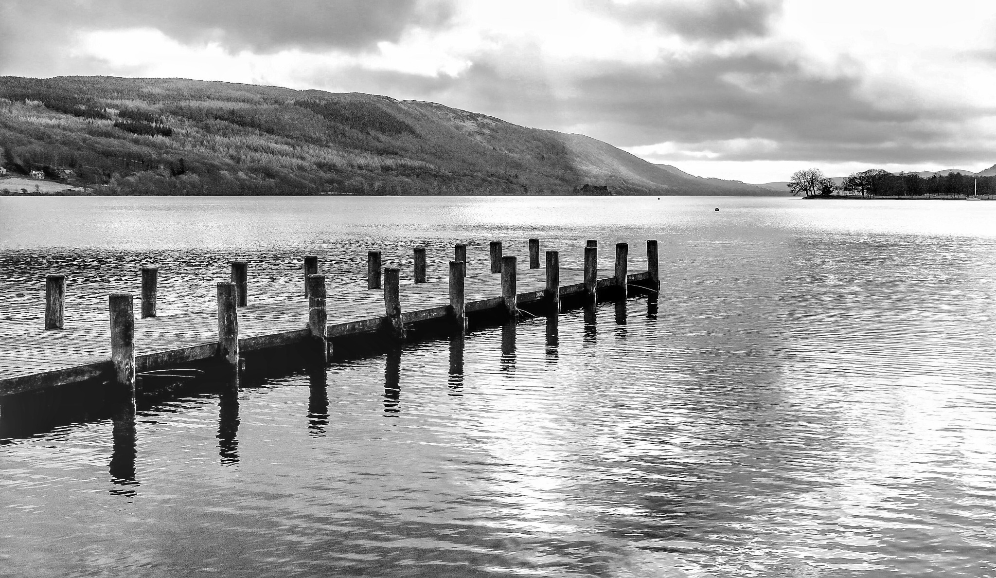 Coniston Water Cumbria uk...bw090601 by Michael jjg