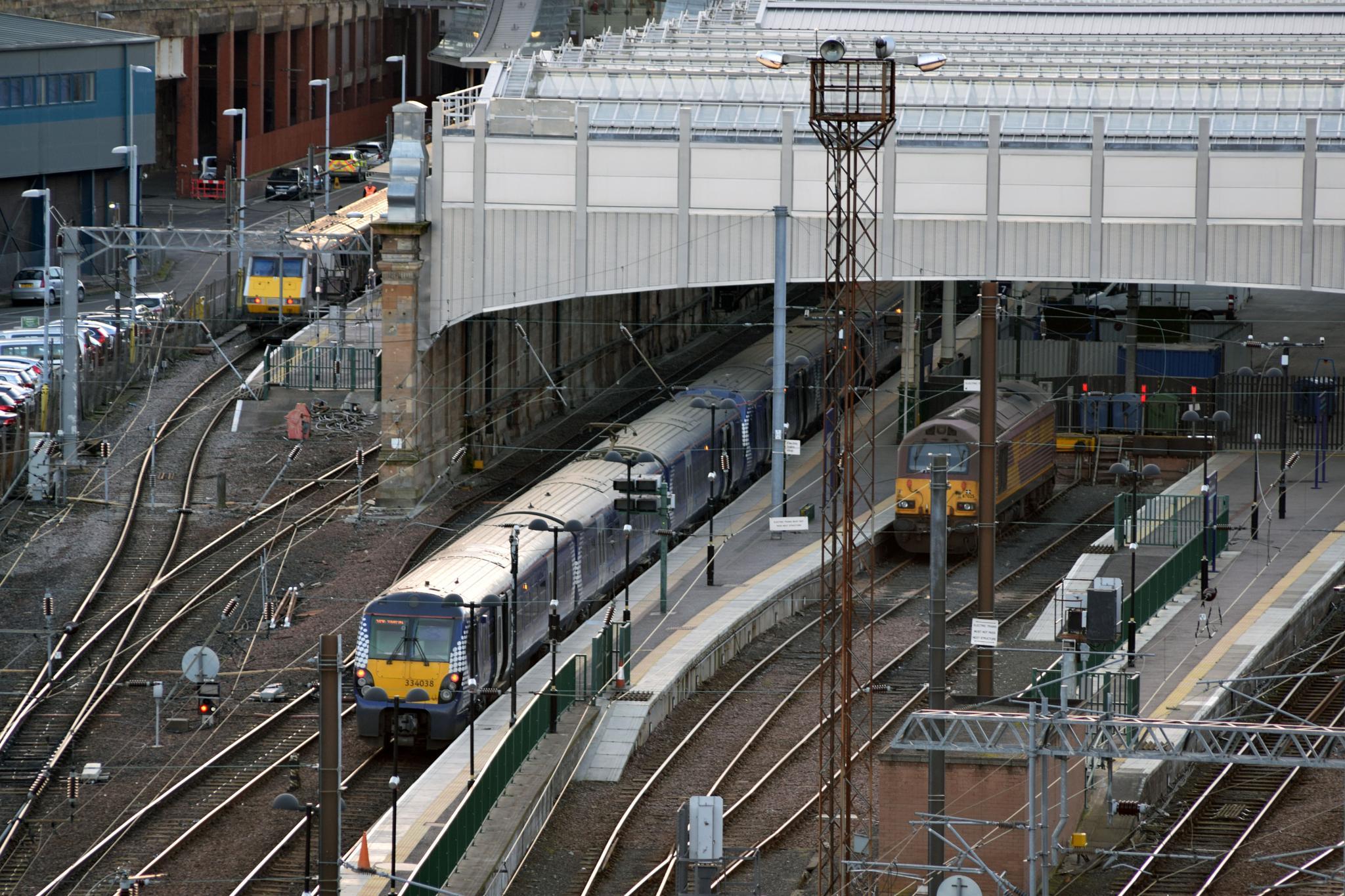 Rear of Waverley station in Edinburgh by gordon40uk