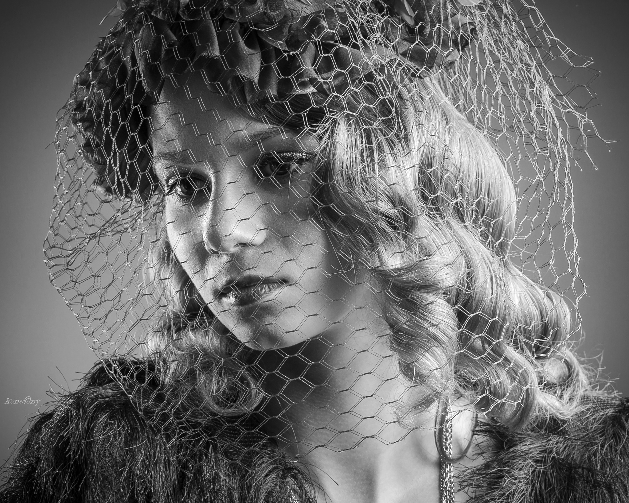 Portrait of old style girl by Peter Final