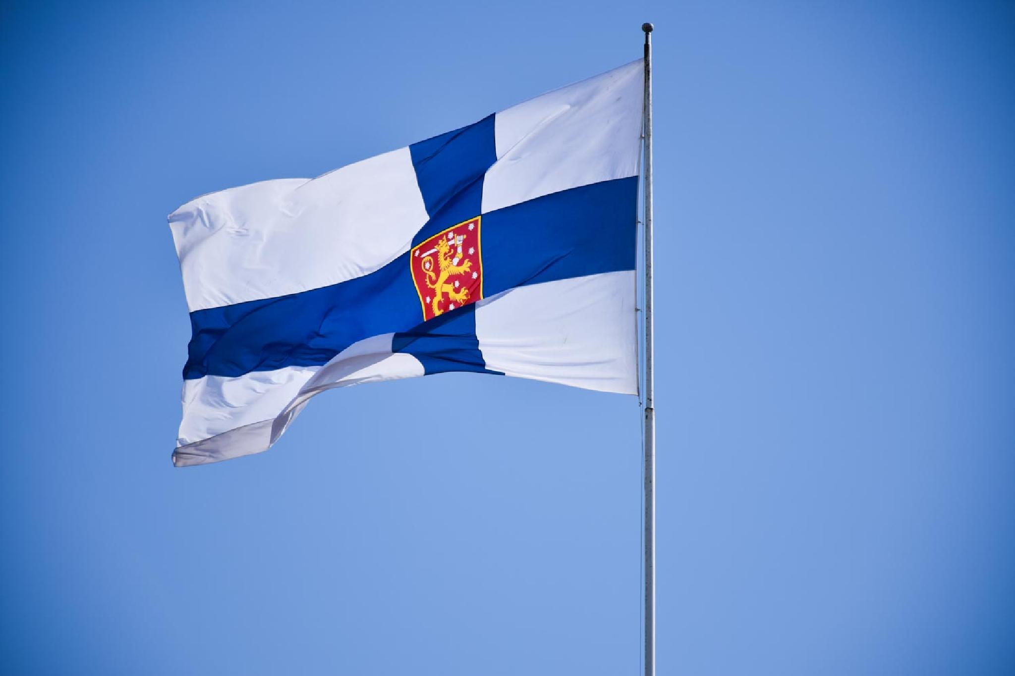 A A Flag I See Somewhere around Senator Square Helsinki Finland by aronrielle