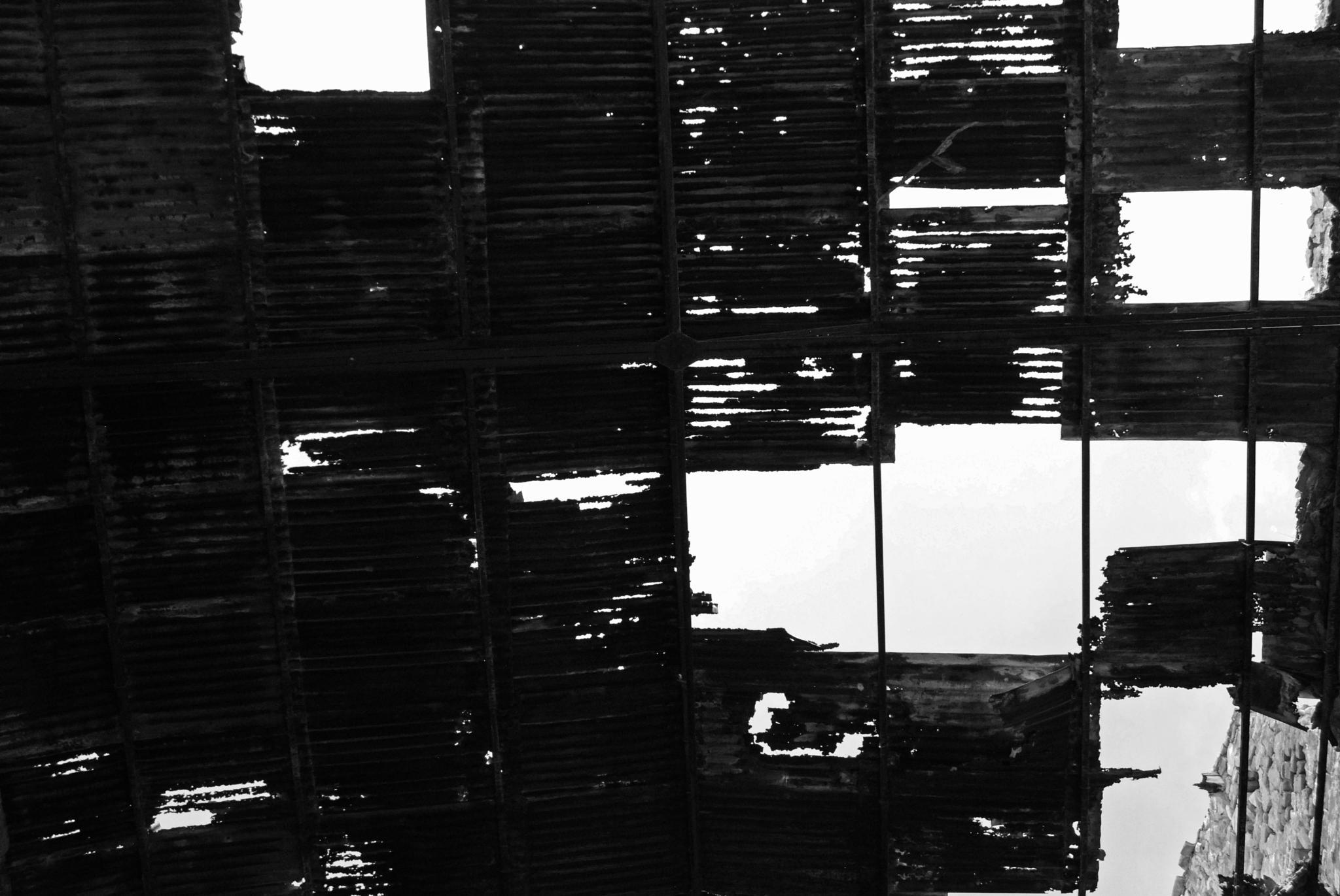 Photo in Black and White #black & white #monochrome #urban #decay #sky