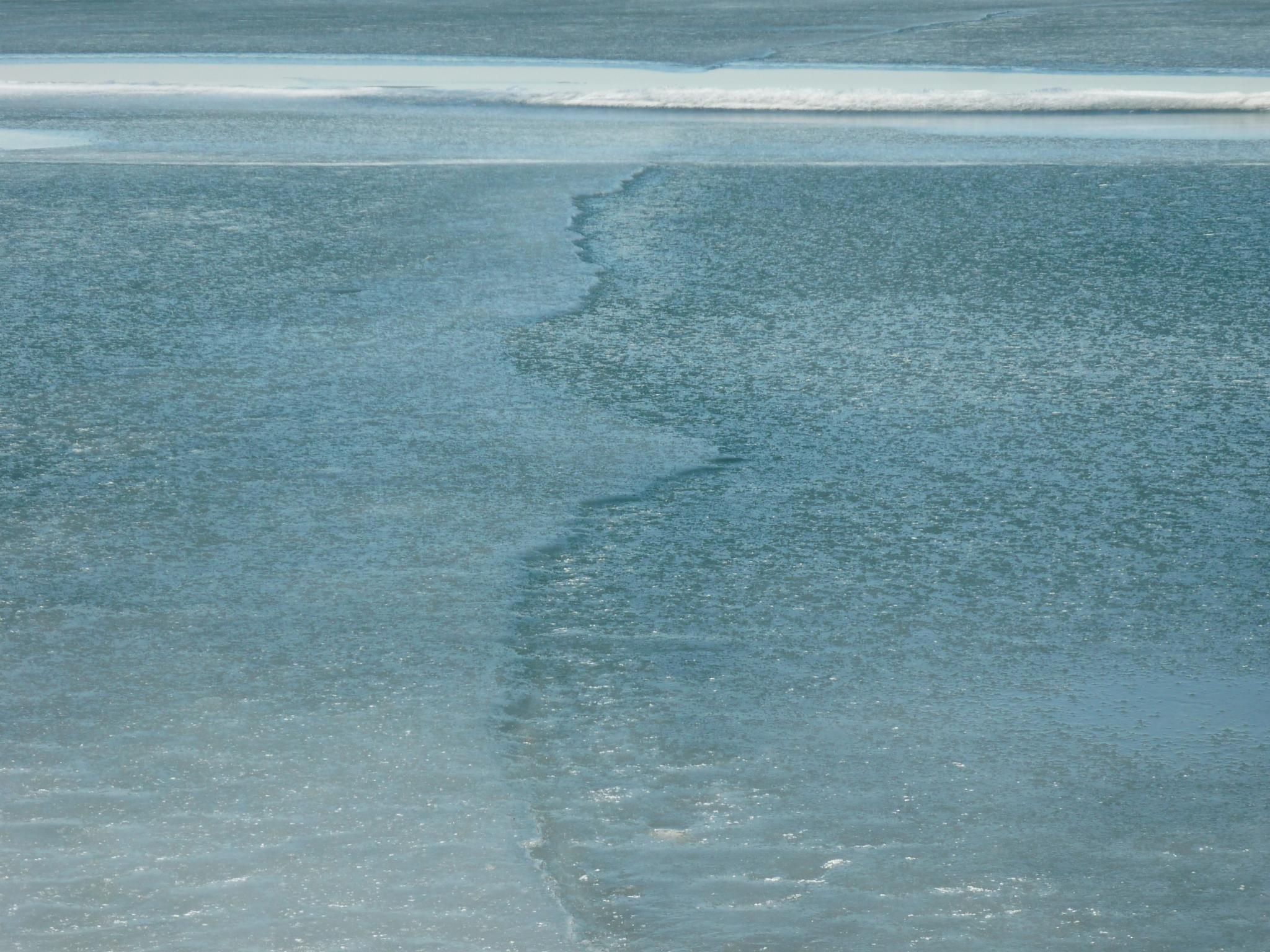 Frozen Water Lines by husky.blue.river