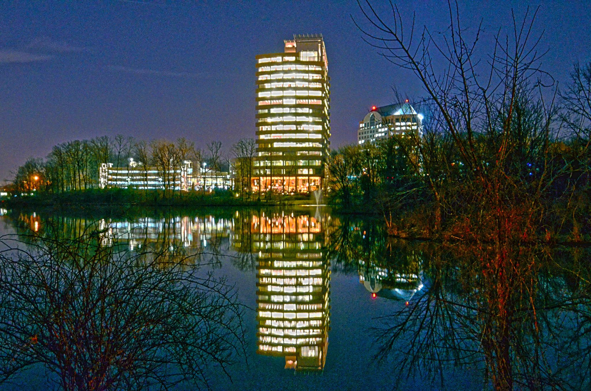 Night Tower in Falls Church by Wayne V. Hall (WALL Photography and Design)