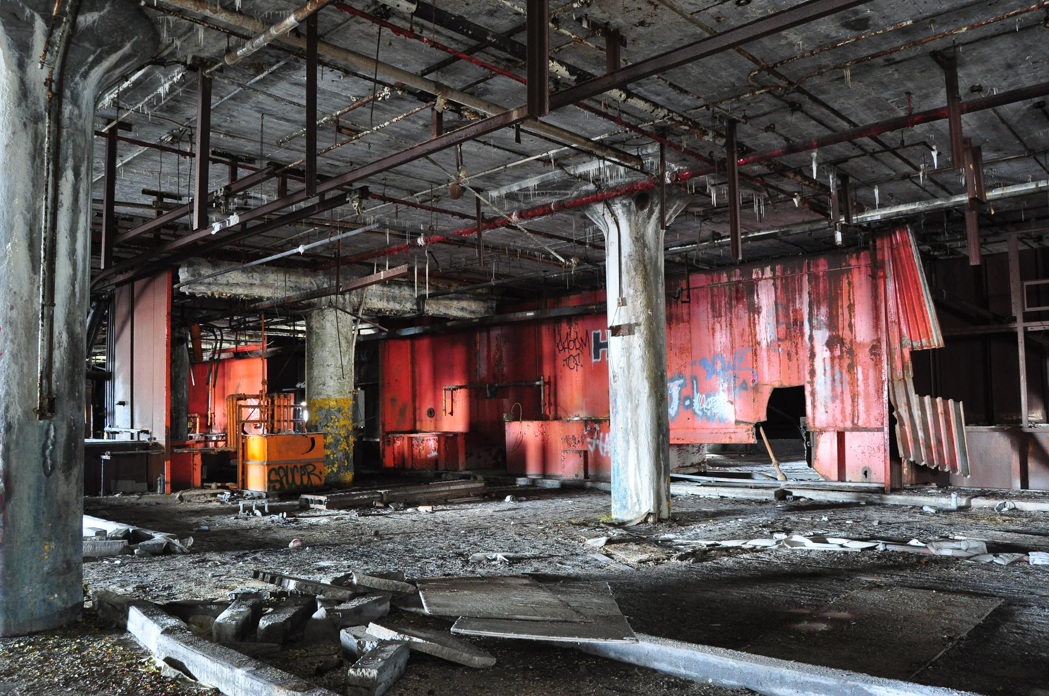 Abandoned auto factory by JanuaryFire