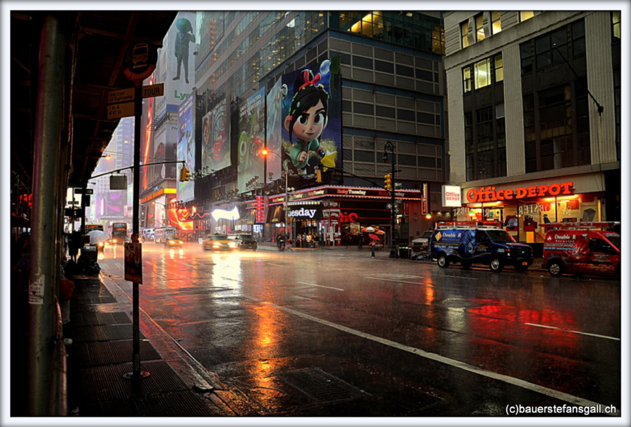 """""""nyc time square."""" by BauerStefan"""