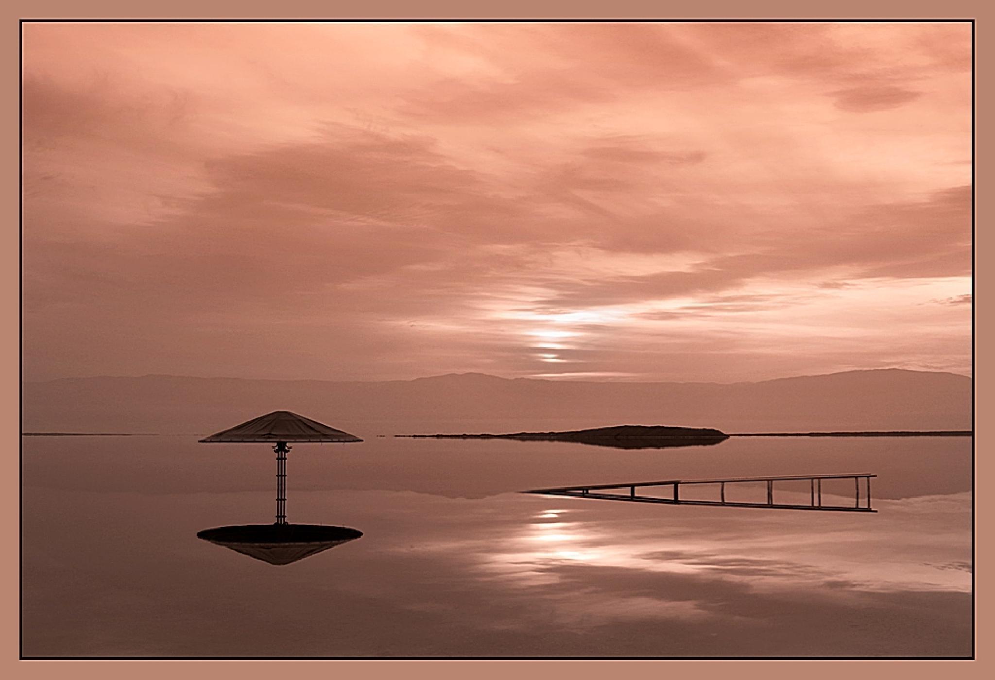 The Dead Sea, Sunrise by David Solodar