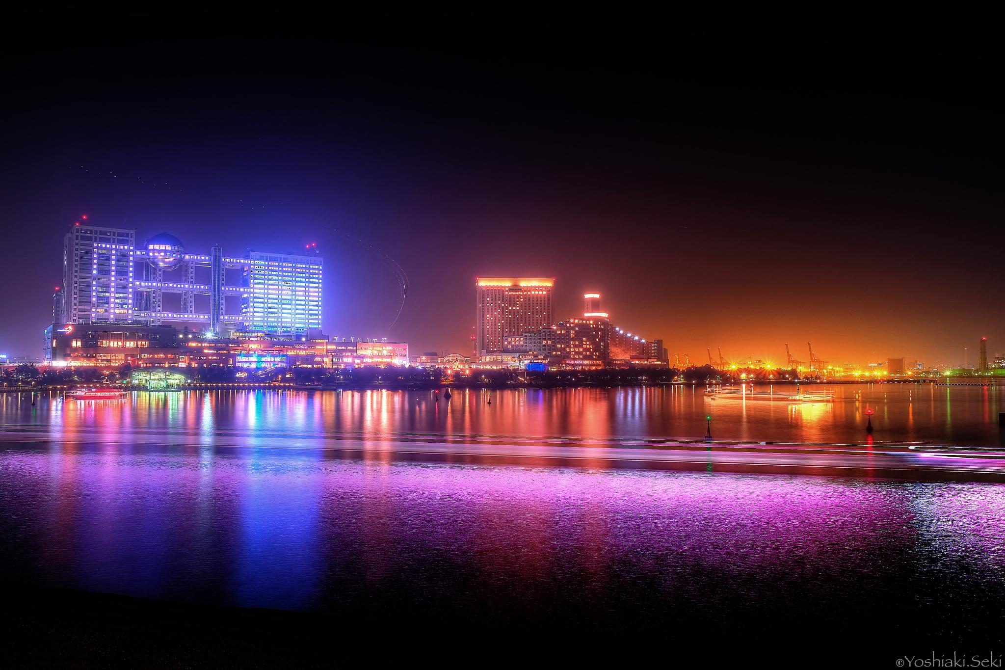 Odaiba Night〔taken with fluorescent light〕 by Yoshiaki Seki
