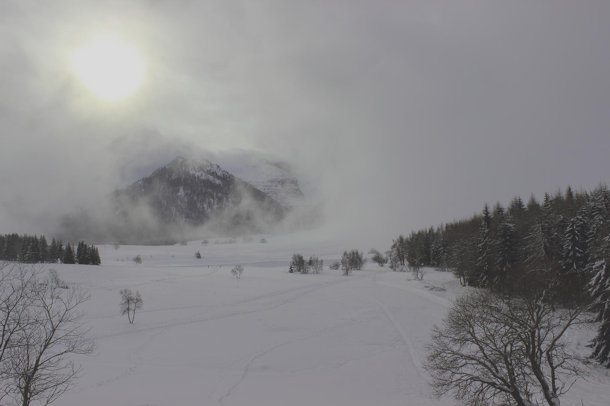 Fog on mountain by Lorenzo.Bruscaggin