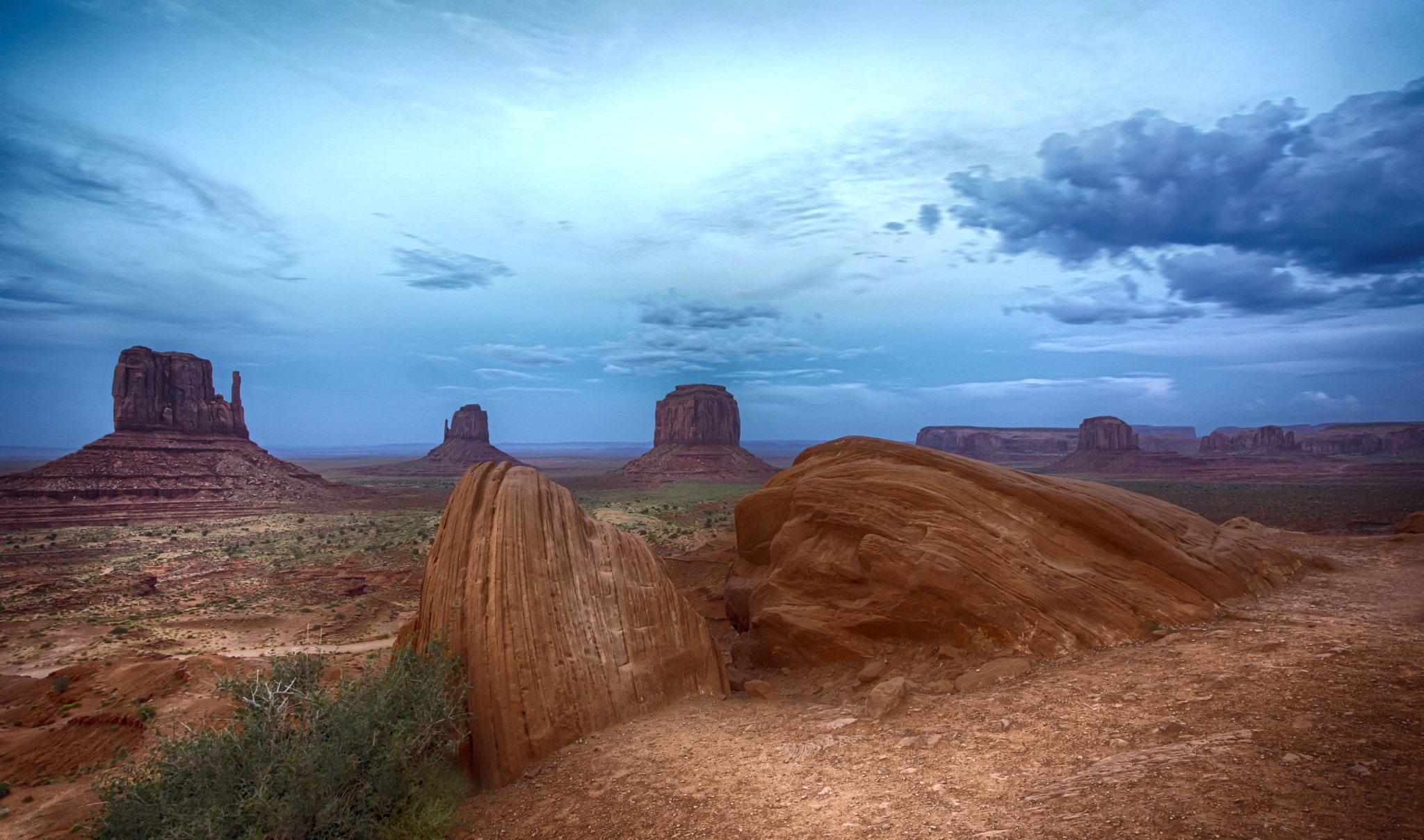"""The """"Mittens"""" and """"Merrick"""" butte by Christine C. Abad"""