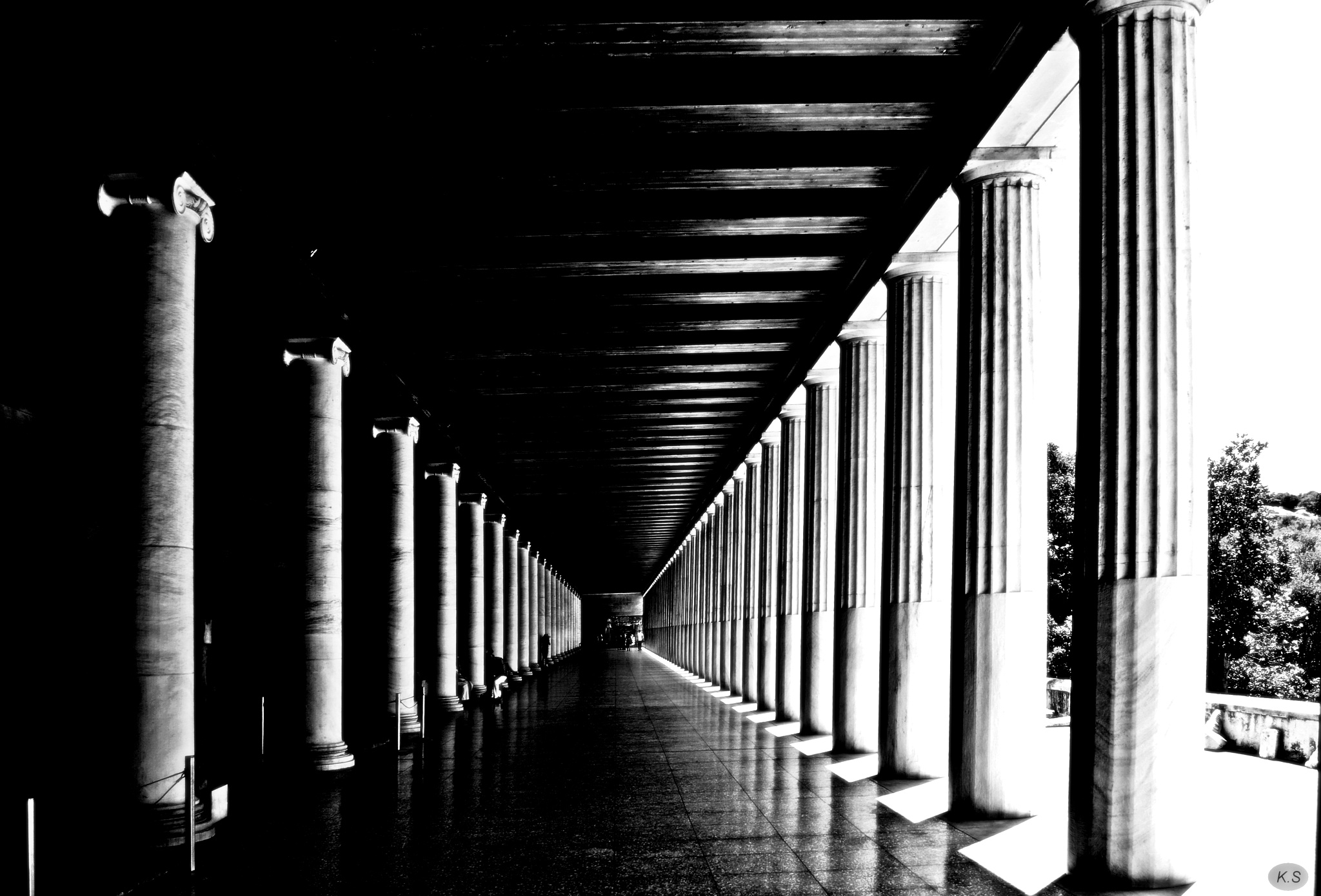 stoa ( covered walkway) of Attalos at Ancient Agora  by Katherine.Soulis