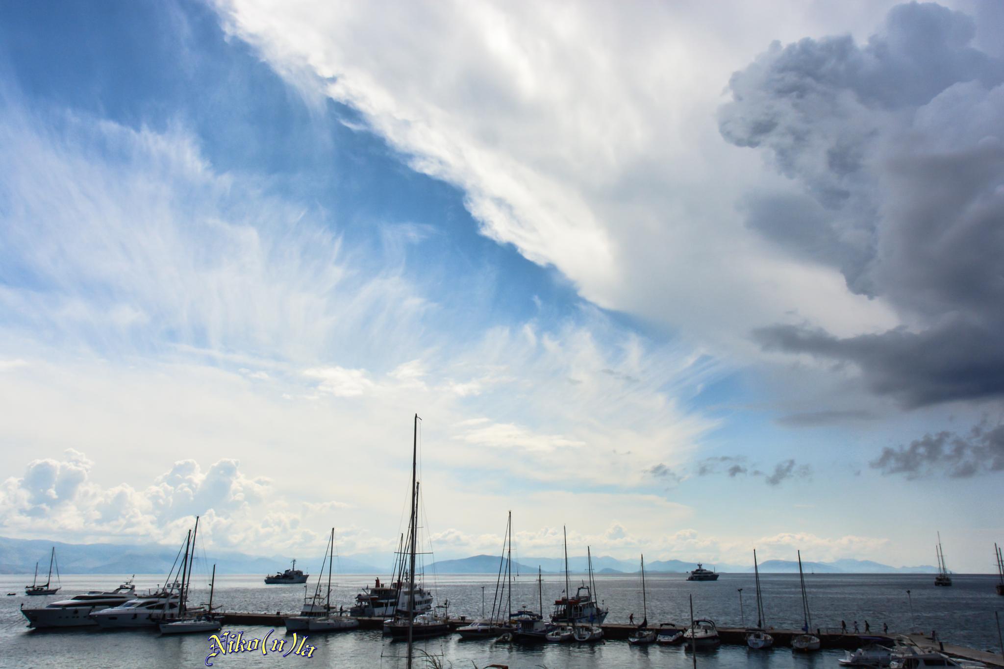 Port Corfu, Greece by Nikola Bjelobaba