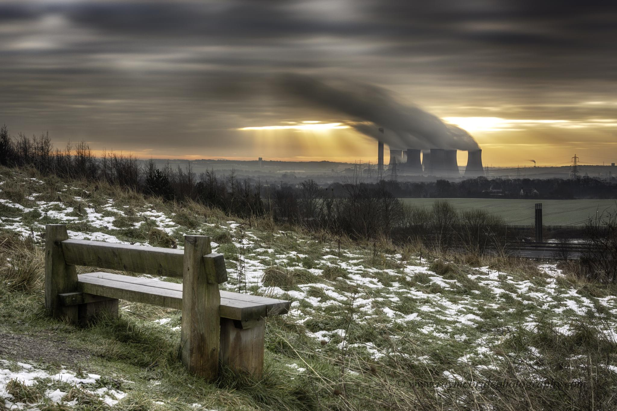 """""""Fiddlers Ferry Power Station from a Distant Hill"""" by raymond.mcbride.50"""