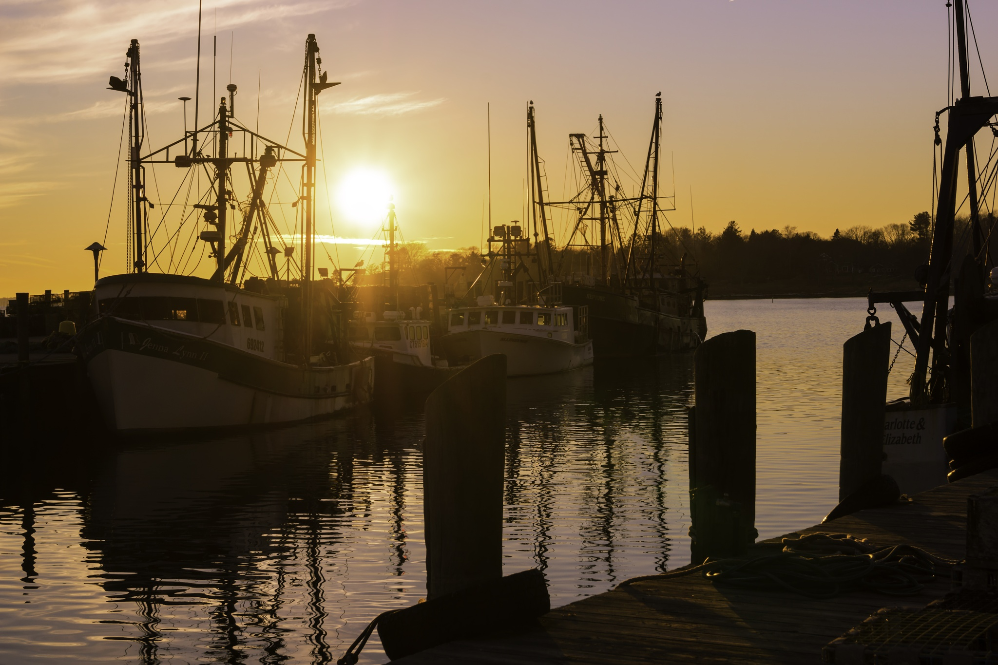 Town Dock Sunset by JoeGeraci
