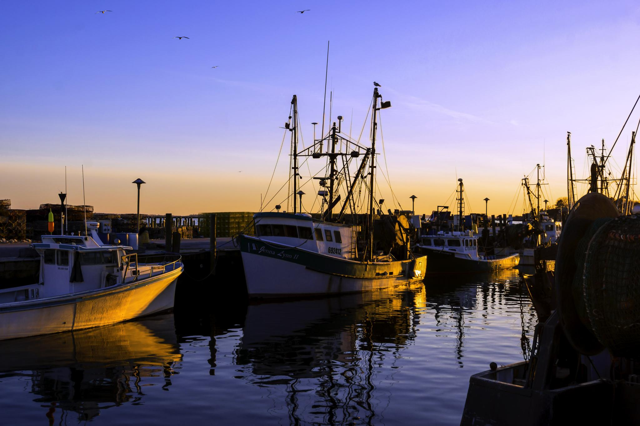 Evening At The Dock 4 by JoeGeraci