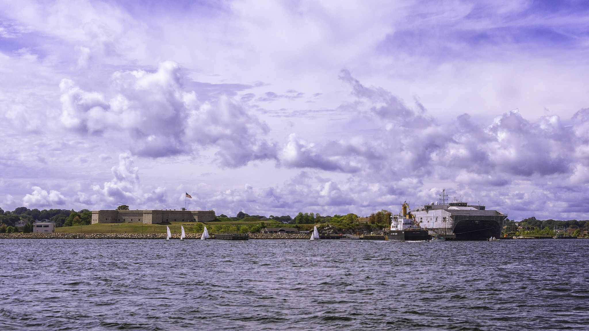 Dockside At Fort Trumbull by JoeGeraci
