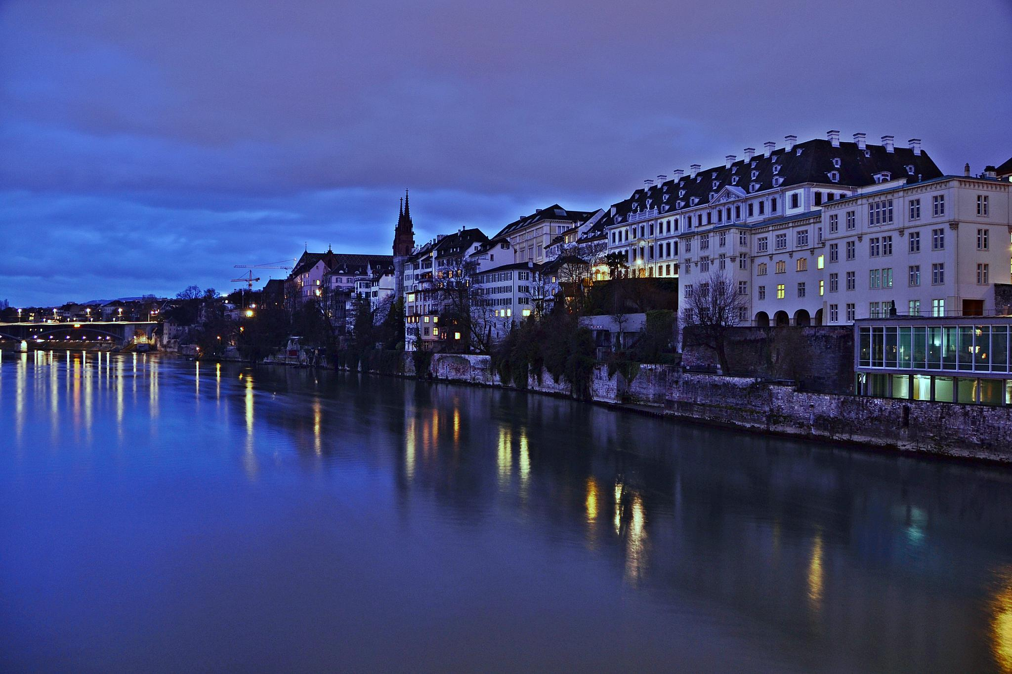 Basel by night. by A.Hikmet Karaca