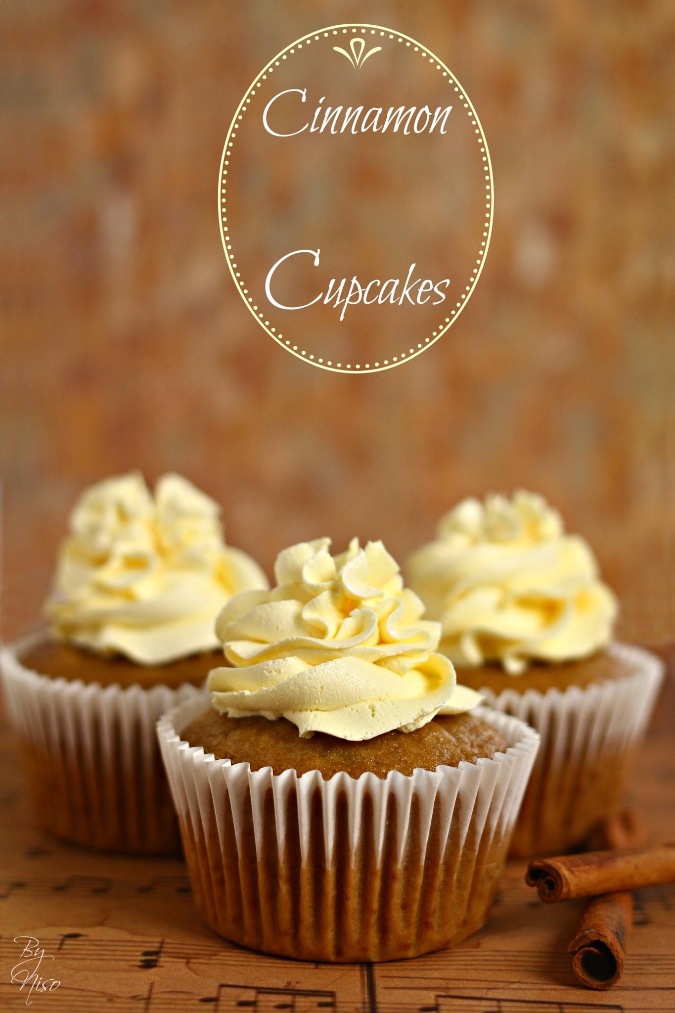 Cinnamon cupcakes by Nisreen Rahhal