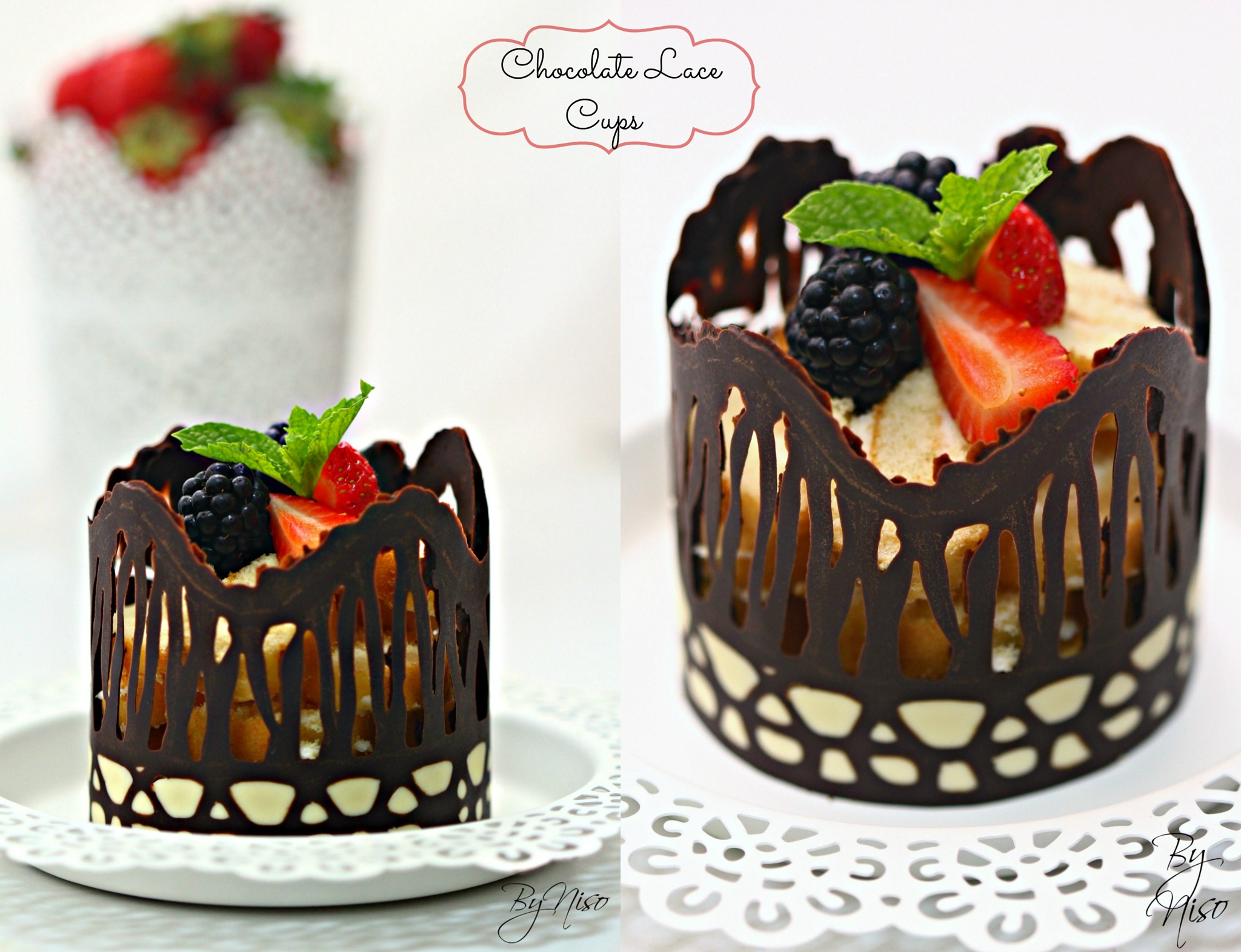 chocolate lace cups by Nisreen Rahhal