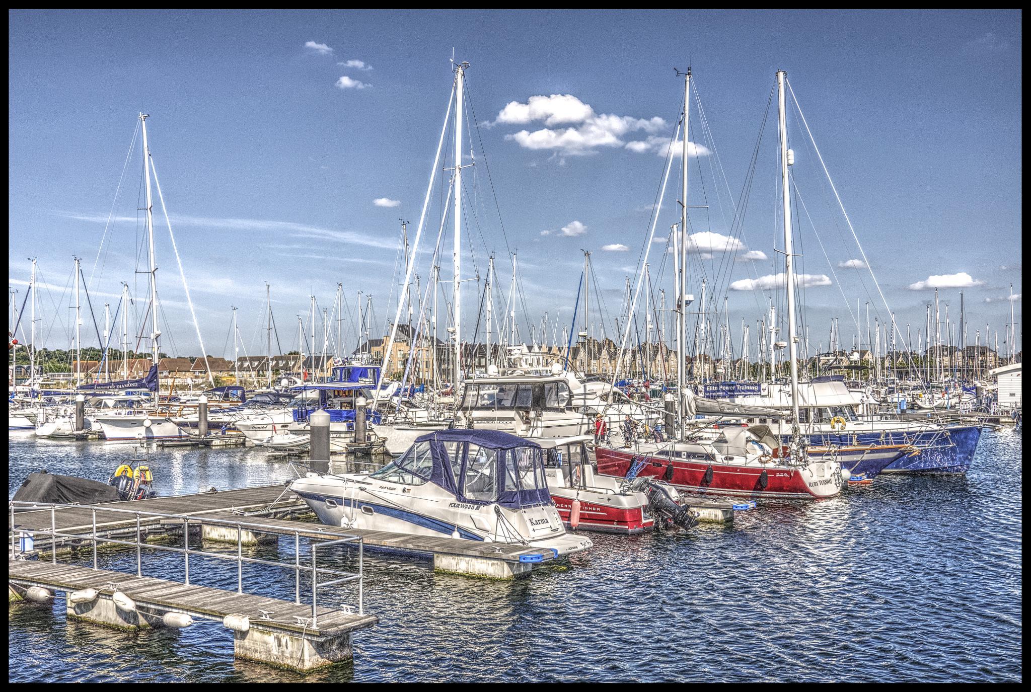 Chatham harbor, UK. by patrickyolanda