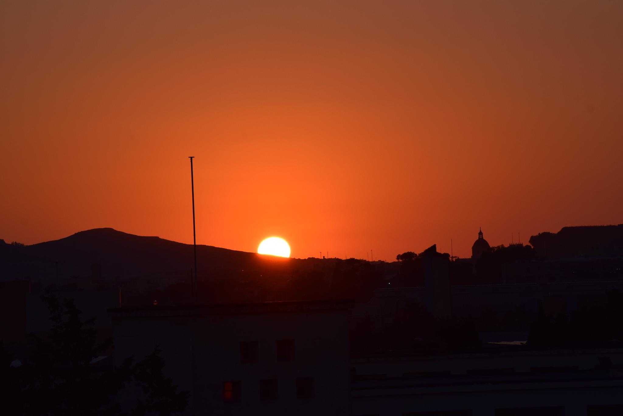 SUN SET FROM MY ROOF  by mick.acton1