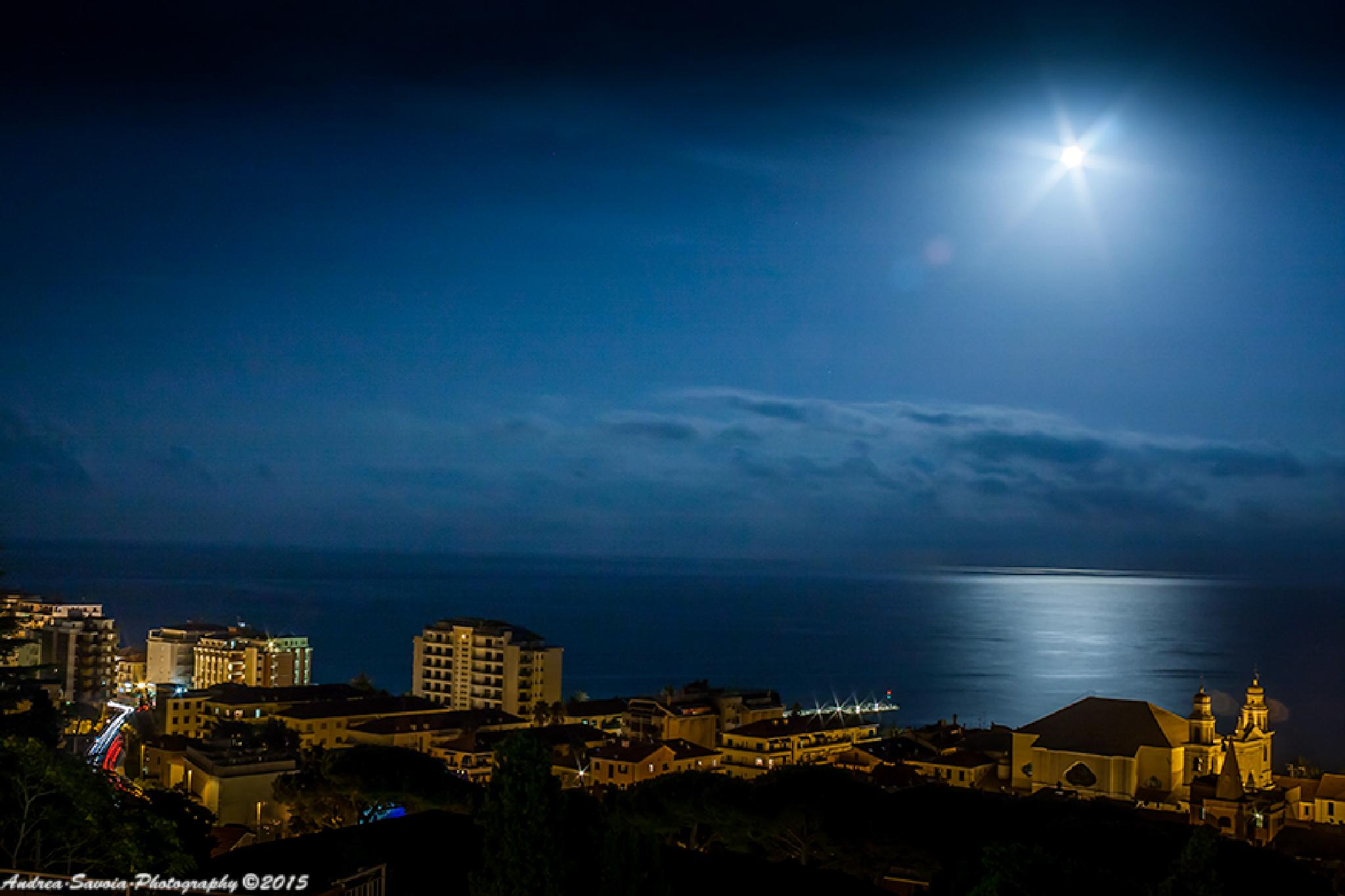 Pietra Ligure By Night by Andrea Savoia Photography