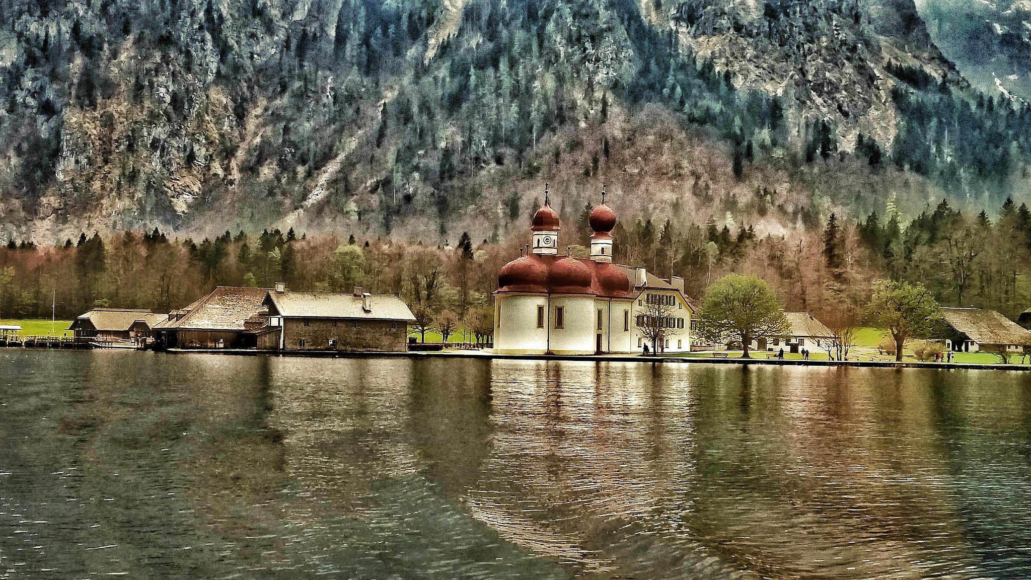 St. Bartholomew's Church on the Konnigssee by dave.skorupski