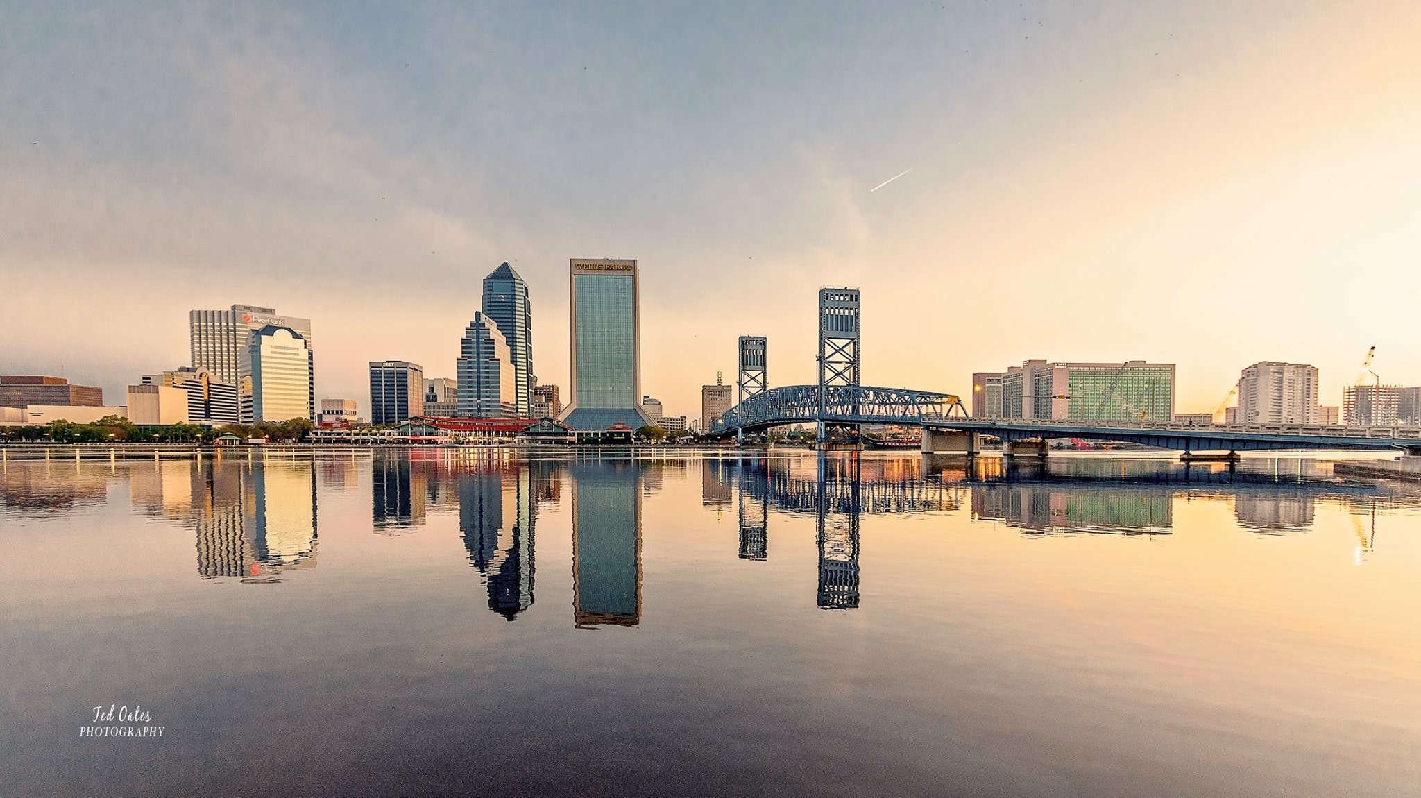 Downtown-Jacksonville by Ted Michael Oates Jr.