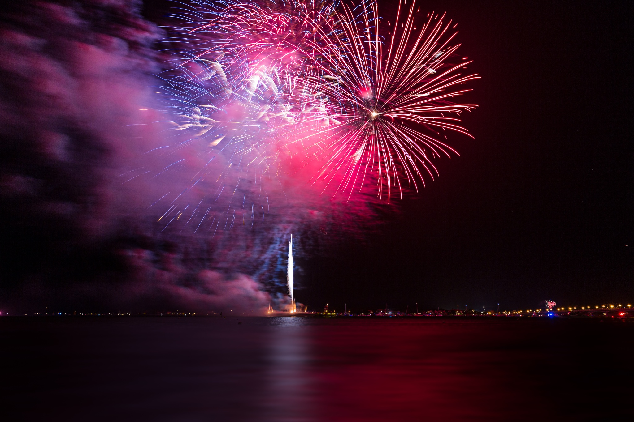 Fireworks over Matanzas Bay 4 by Bryan L. Williams