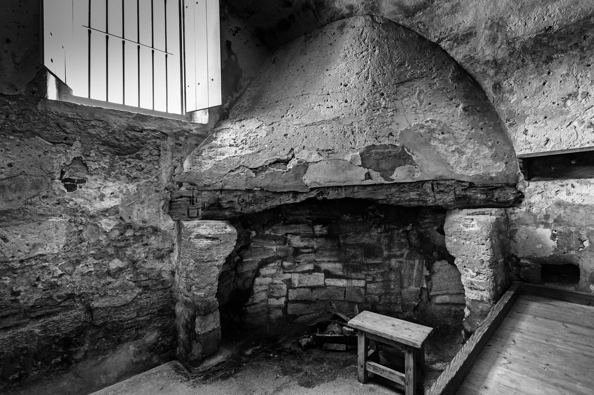 Old fireplace by Bryan L. Williams