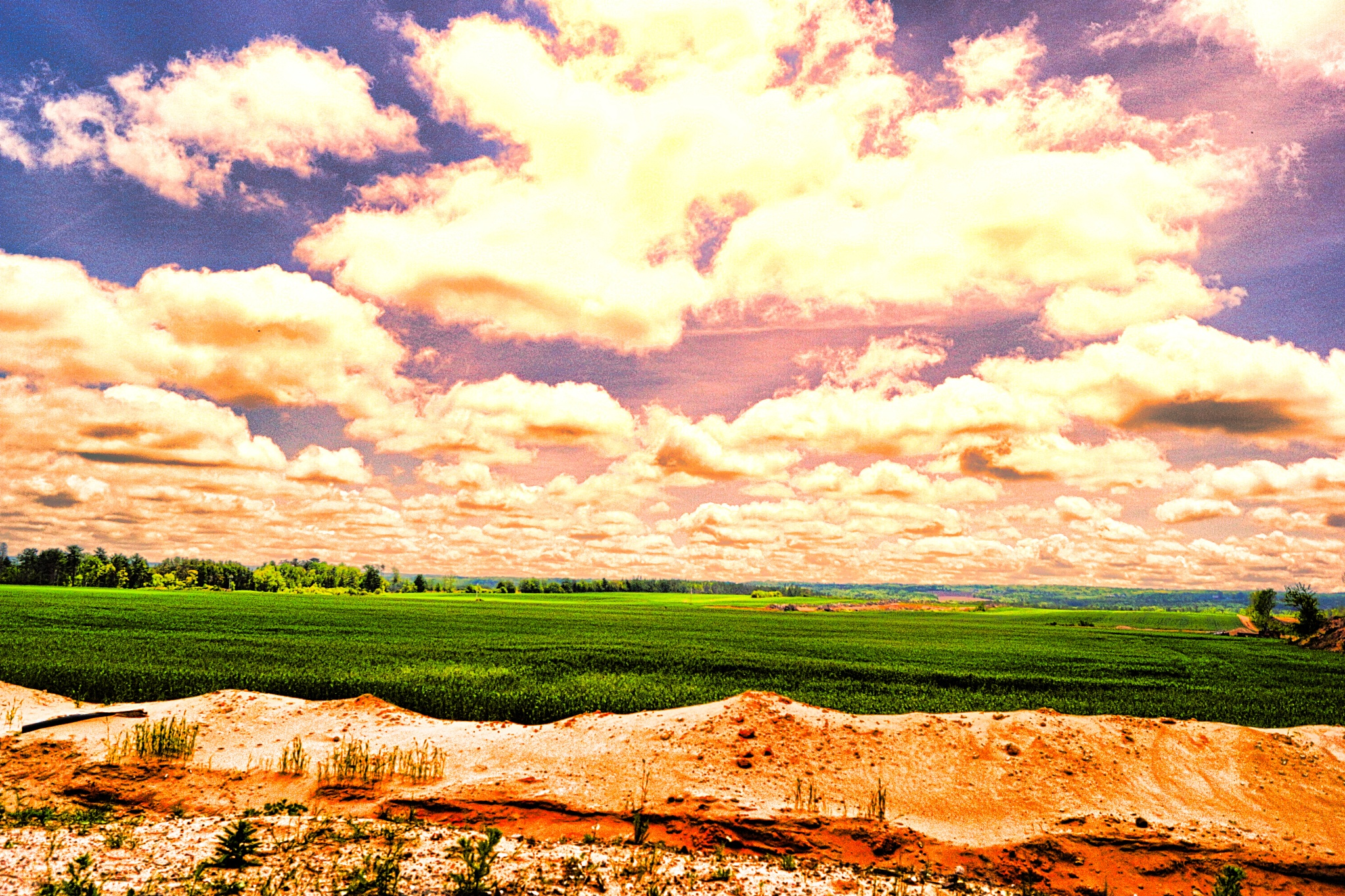 Photo in Rural #spring #clouds #field