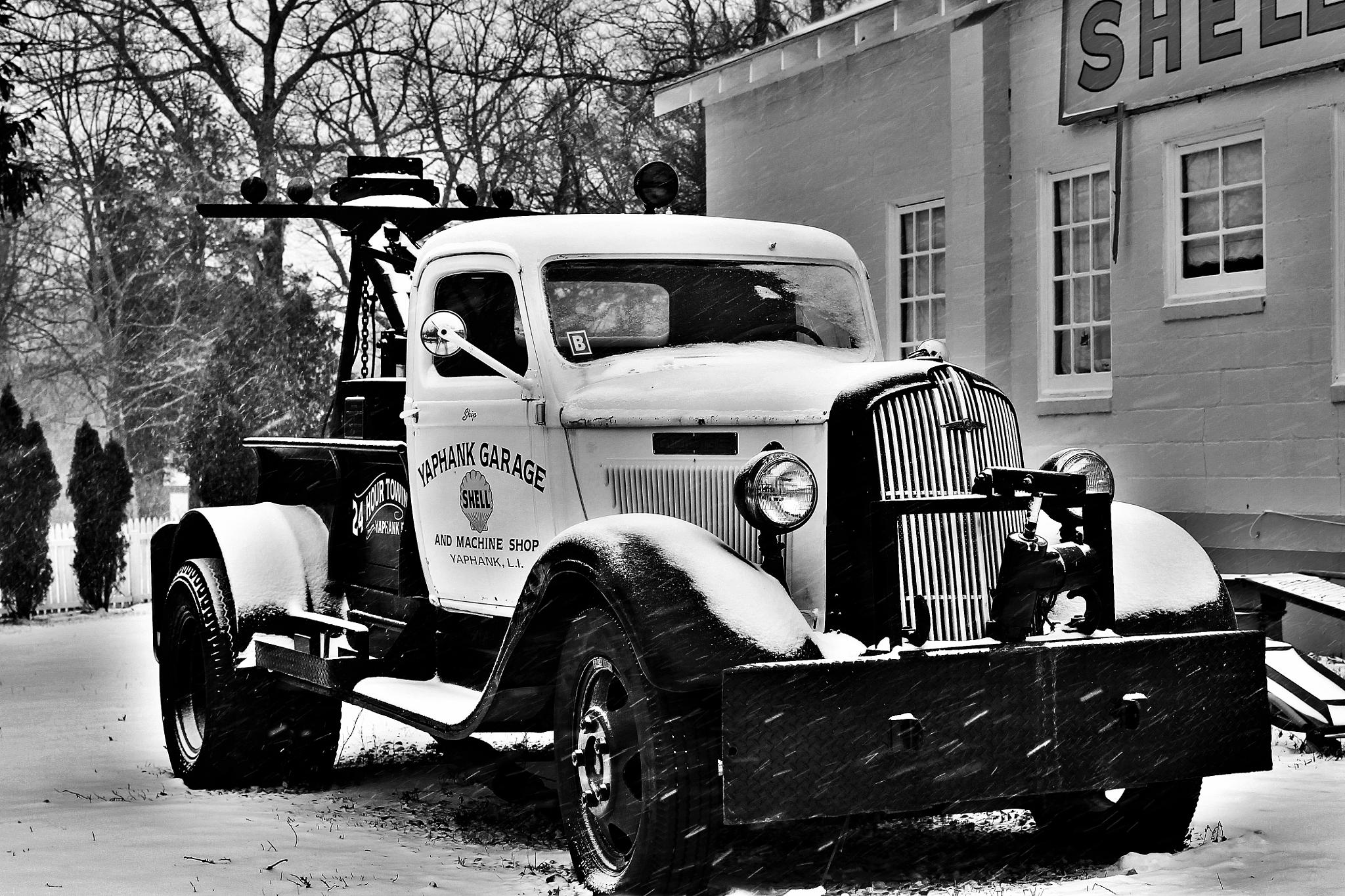 Vintage Tow Truck by A Summer's Smile