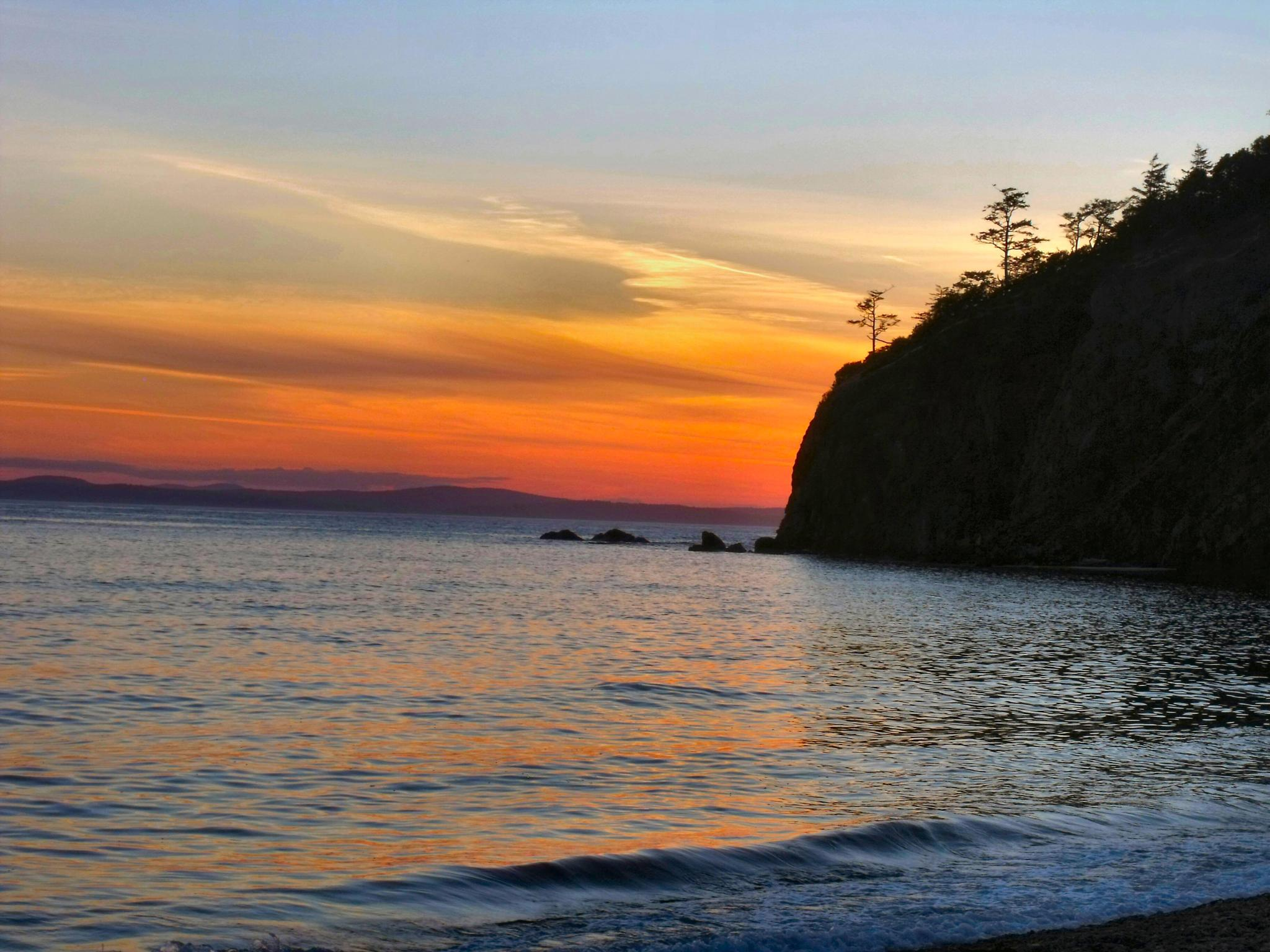 Photo in Landscape #sunset #beach #coast #puget sound #washington