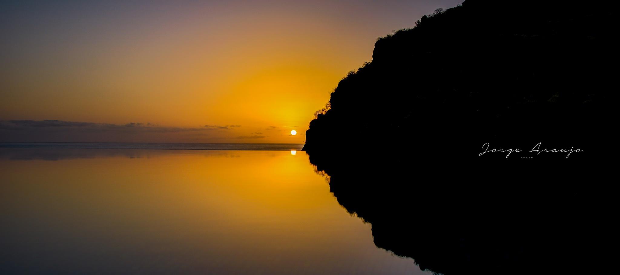 Sunset at swimming pool by Jorge Araújo