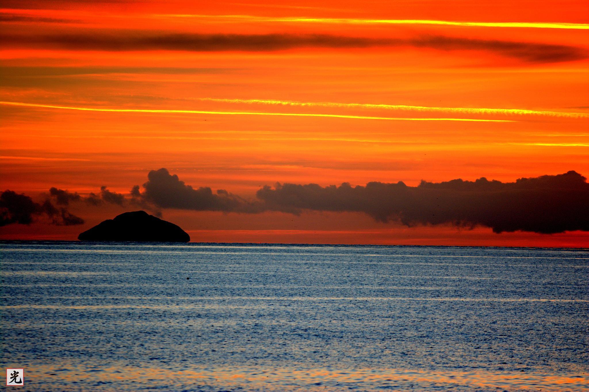 Ailsa Craig sunset by Jonathan Cruickshank