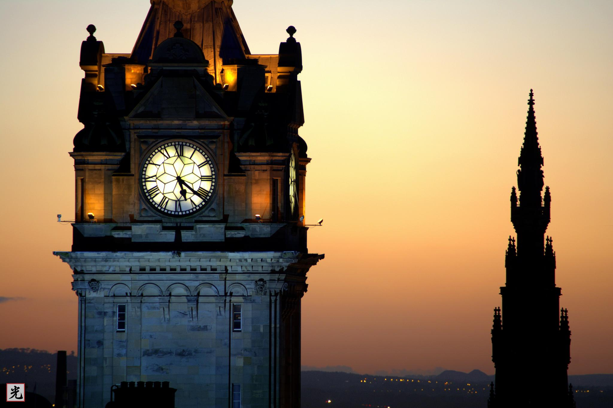 Balmoral Clock and Scott Monument by Jonathan Cruickshank