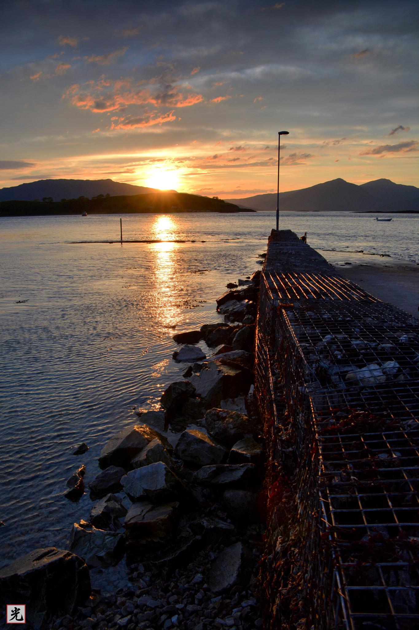 Appin sunset by Jonathan Cruickshank
