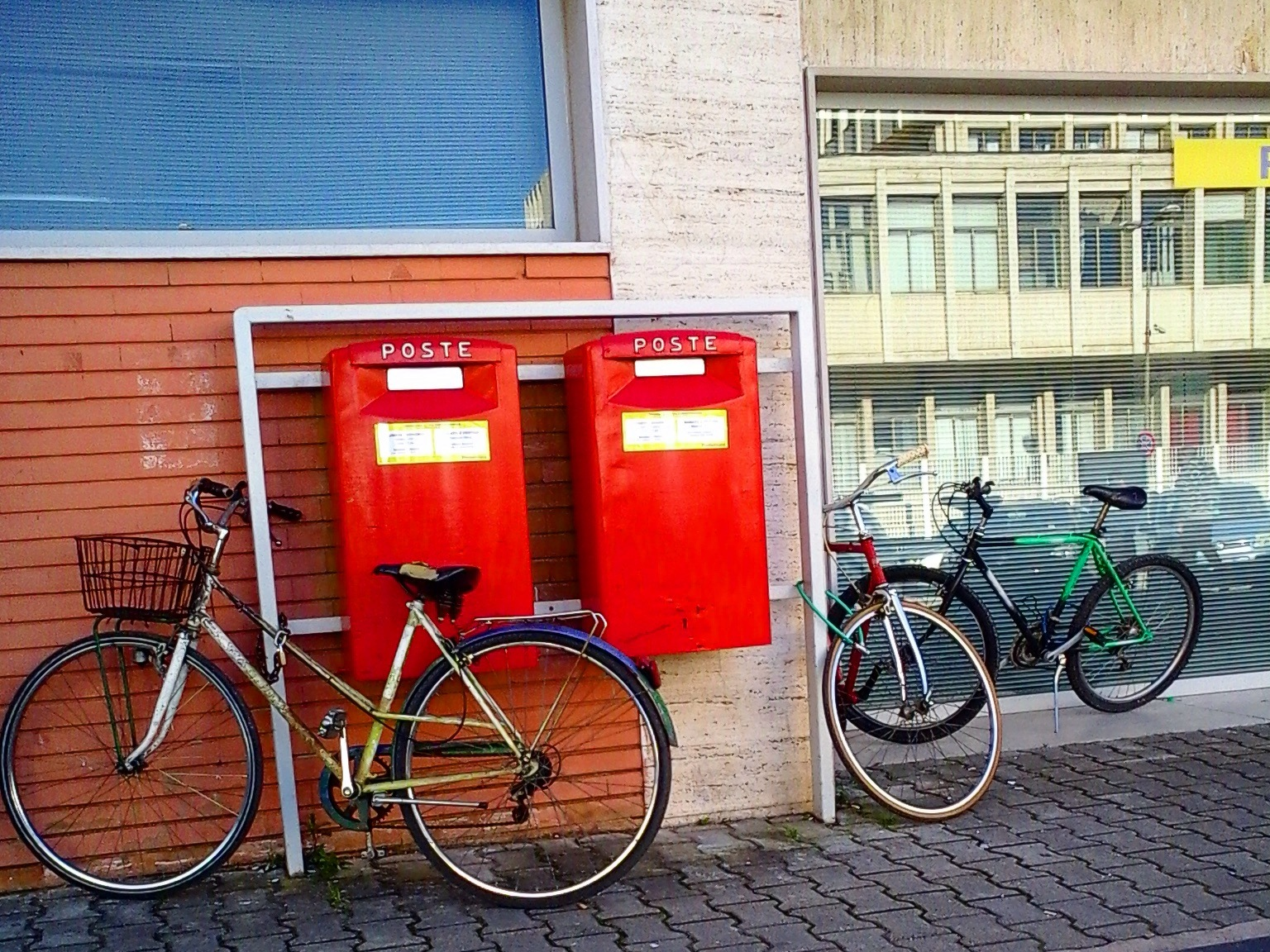 Mailbox and bicycle by Salvatore Bertolino