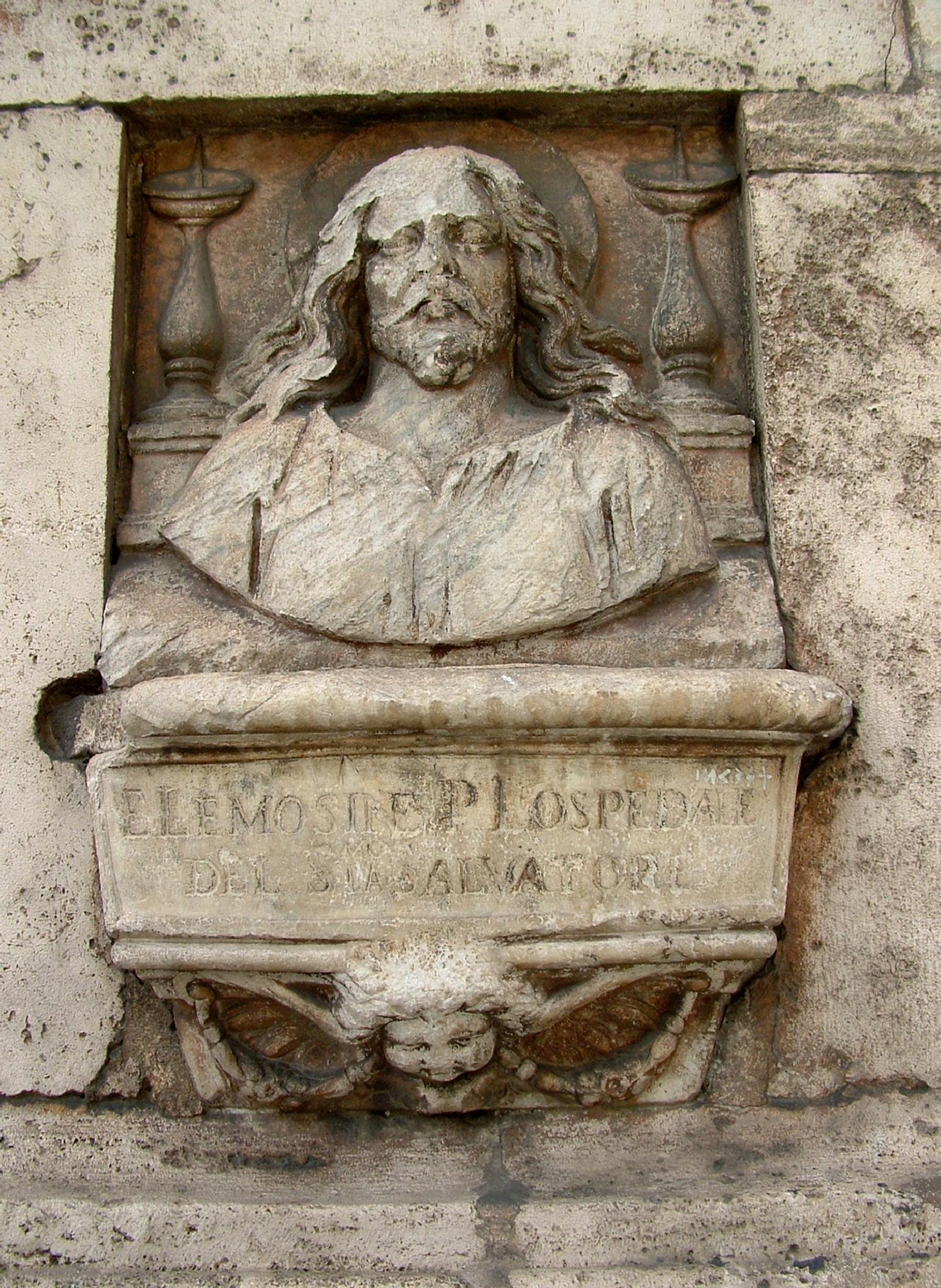 Elemosiniere in marmo by Salvatore Bertolino