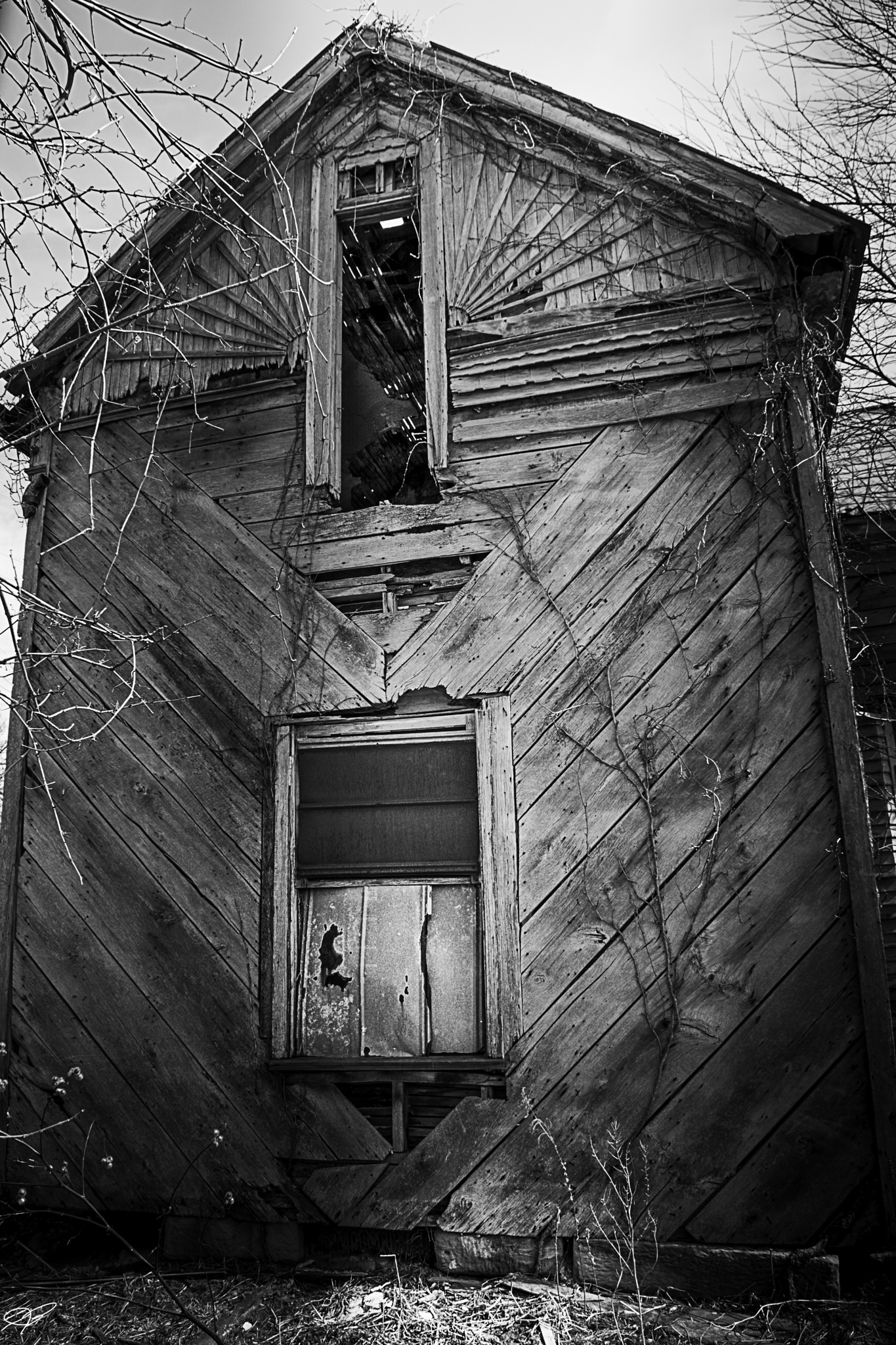 Photo in Black and White #black and white #abandoned #ohio #gpg photography