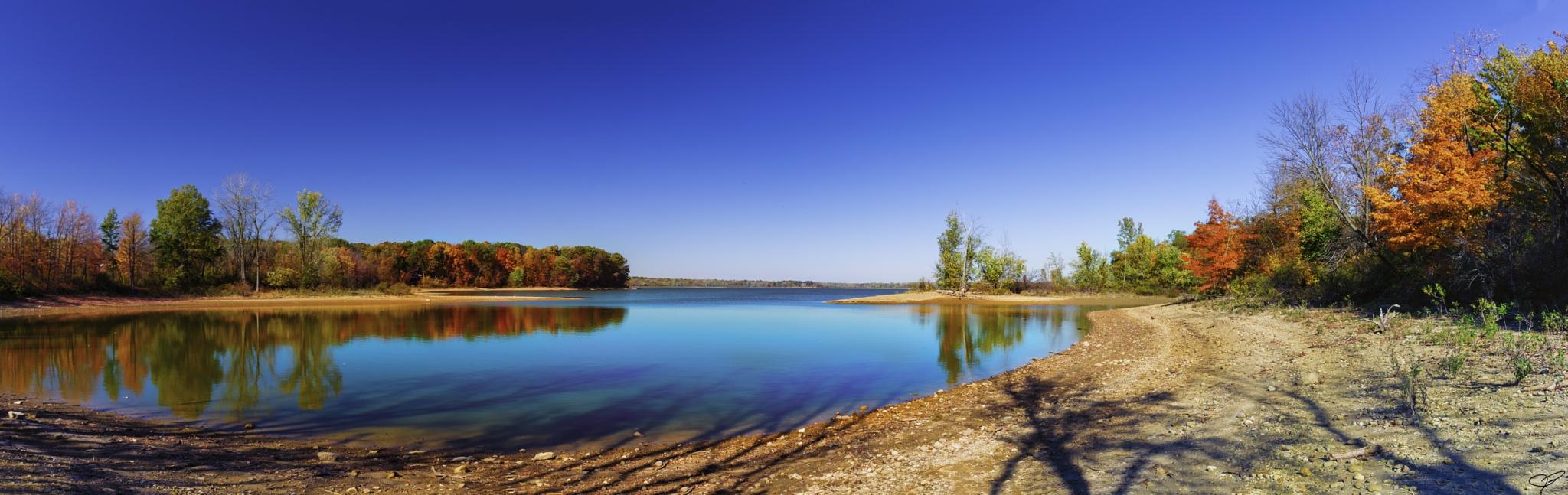 Autumn on the lake by JohnBrake