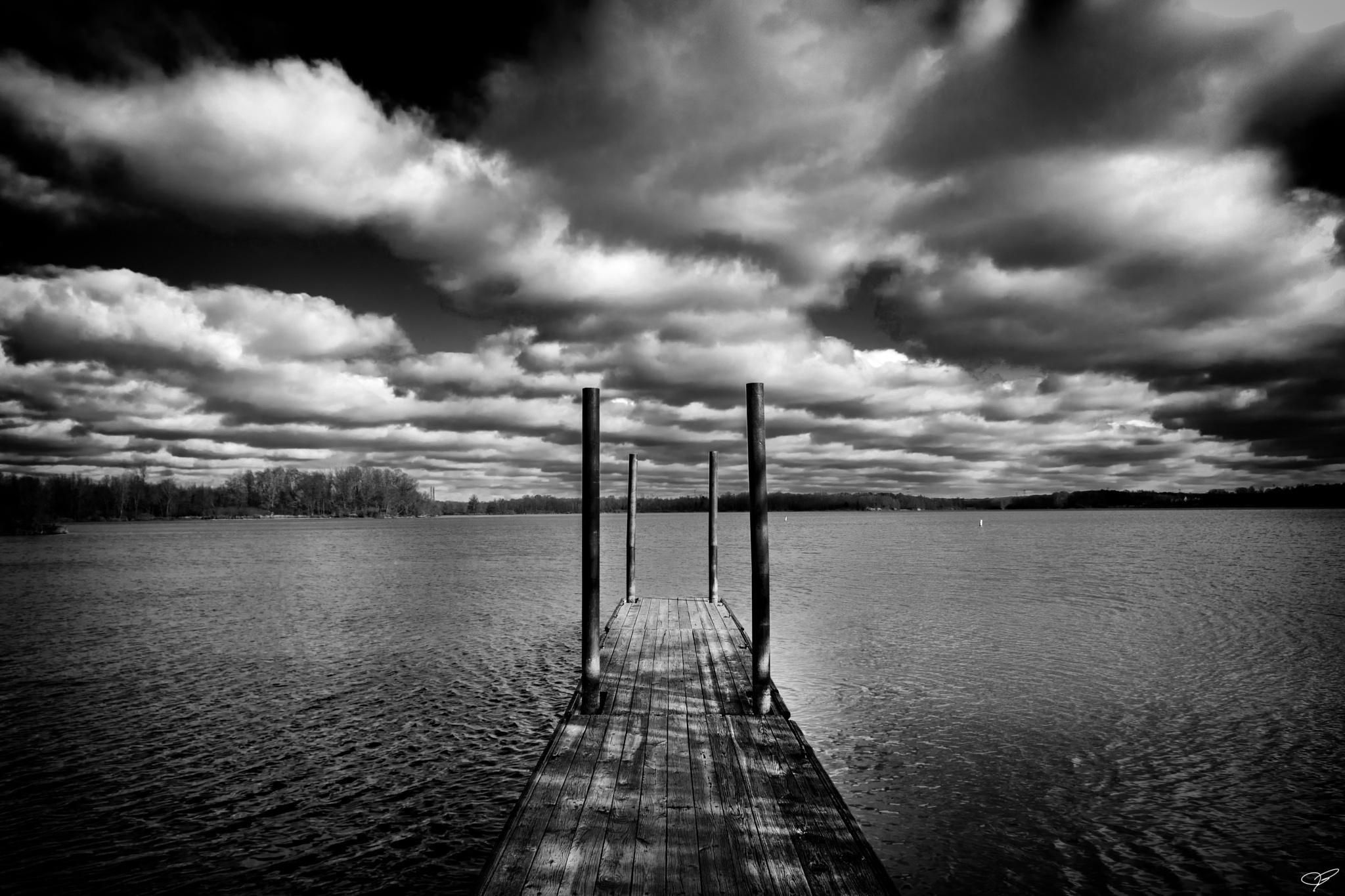 Dock at Alum Creek by JohnBrake