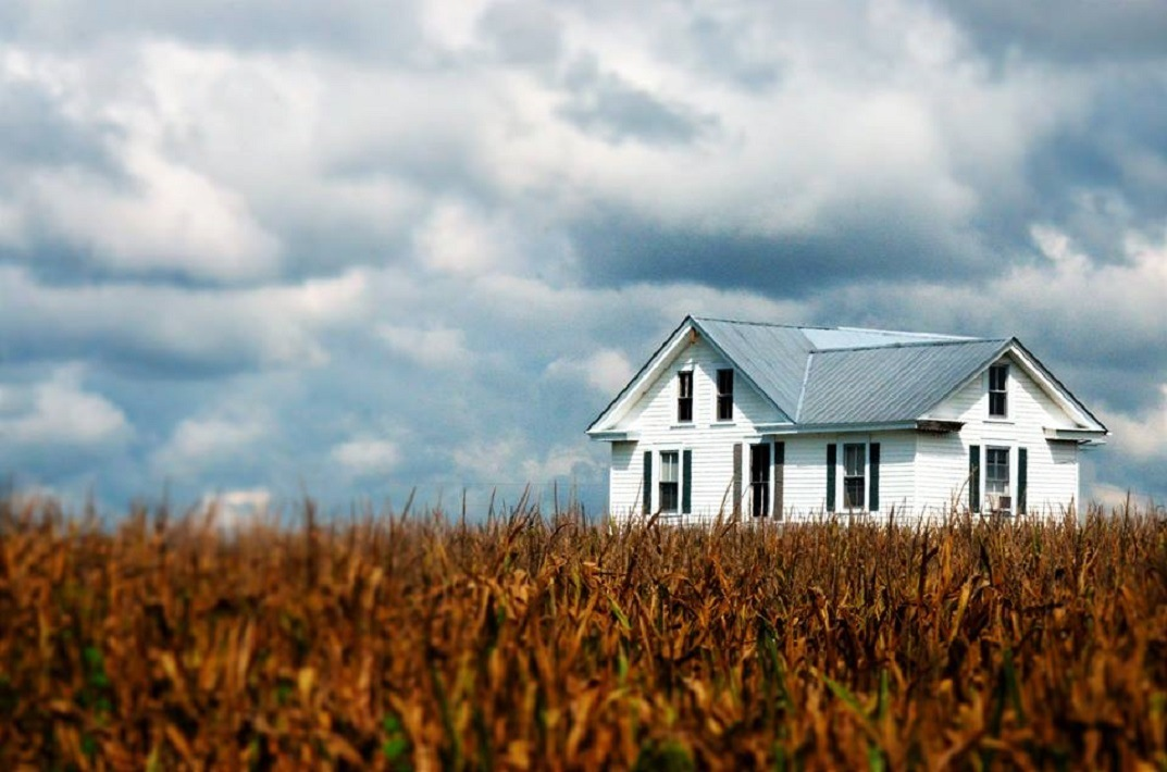 house in cornfield by dabbleshots
