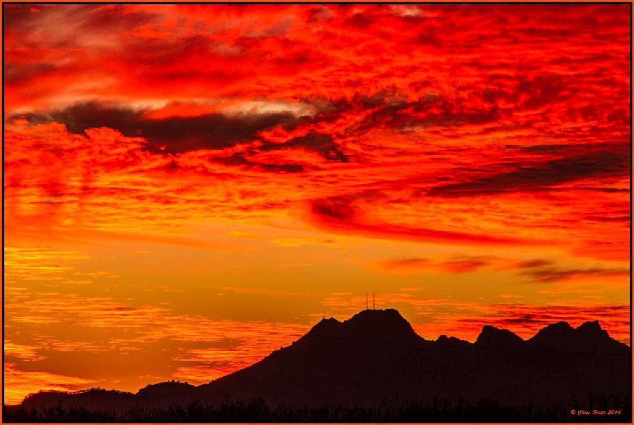Sutter Buttes sunset by chaile2111
