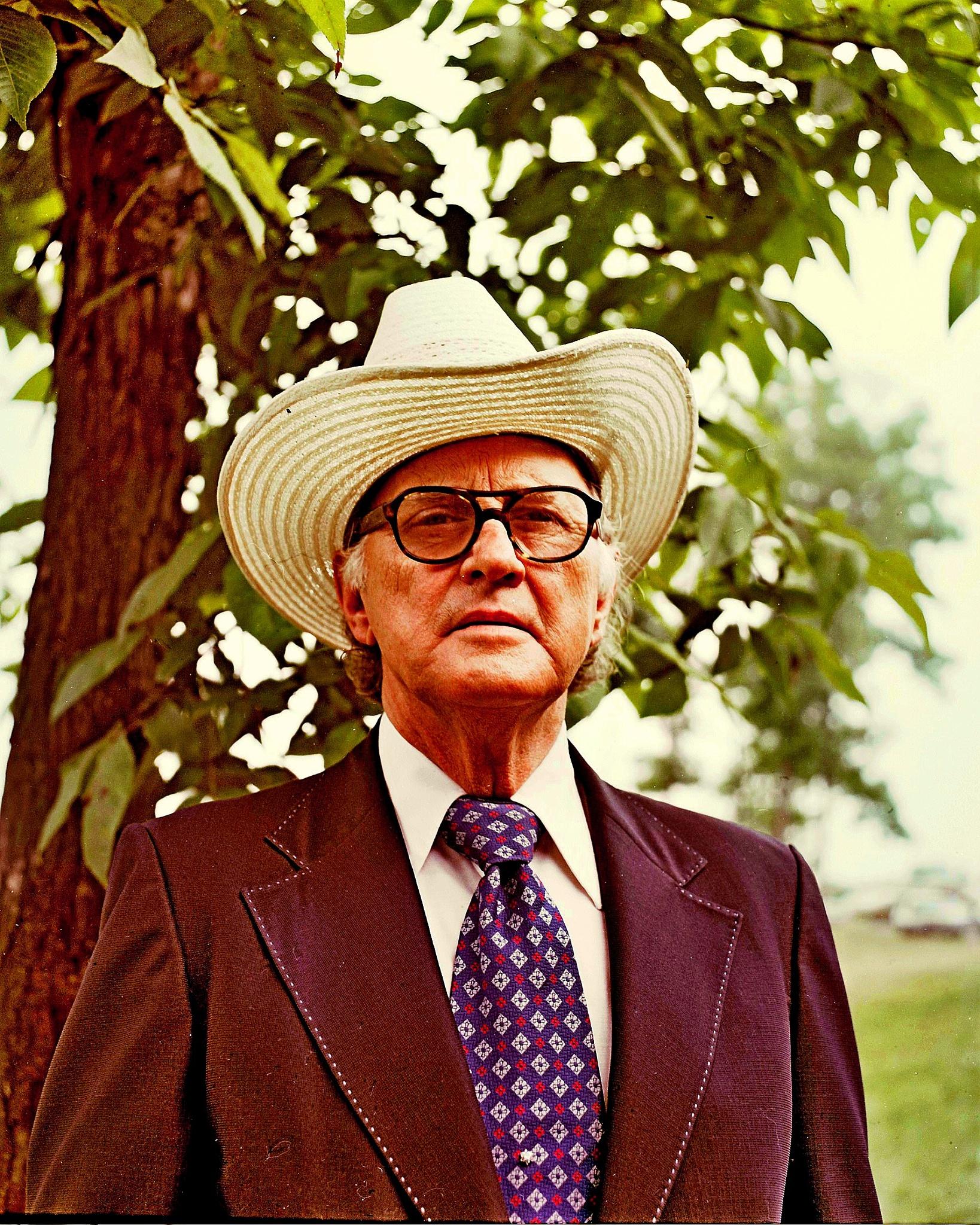 Bill Monroe, Ohio National Bluegrass Festival, 1970's by Wayne T. 'tom' Helfrich