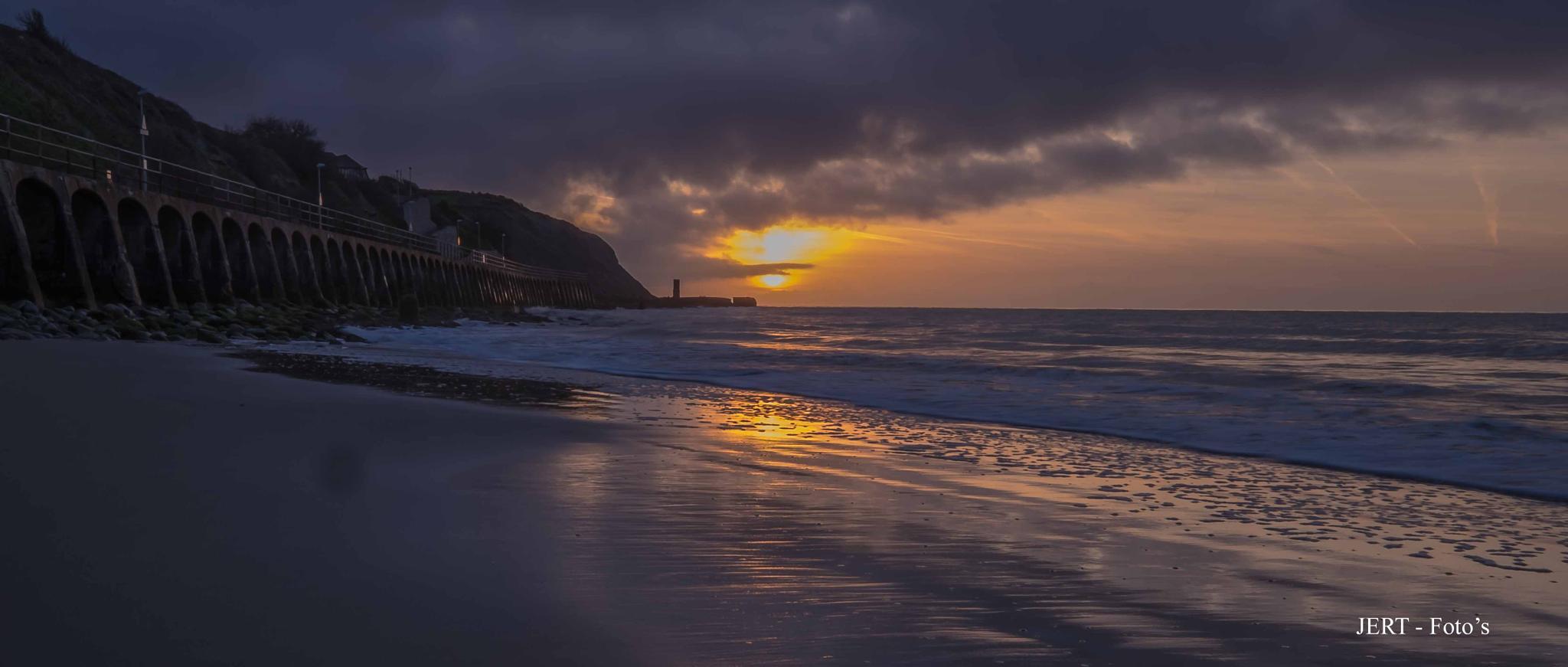 Sunrise today over Sunny Sands, Folkestone. by john.taylor637