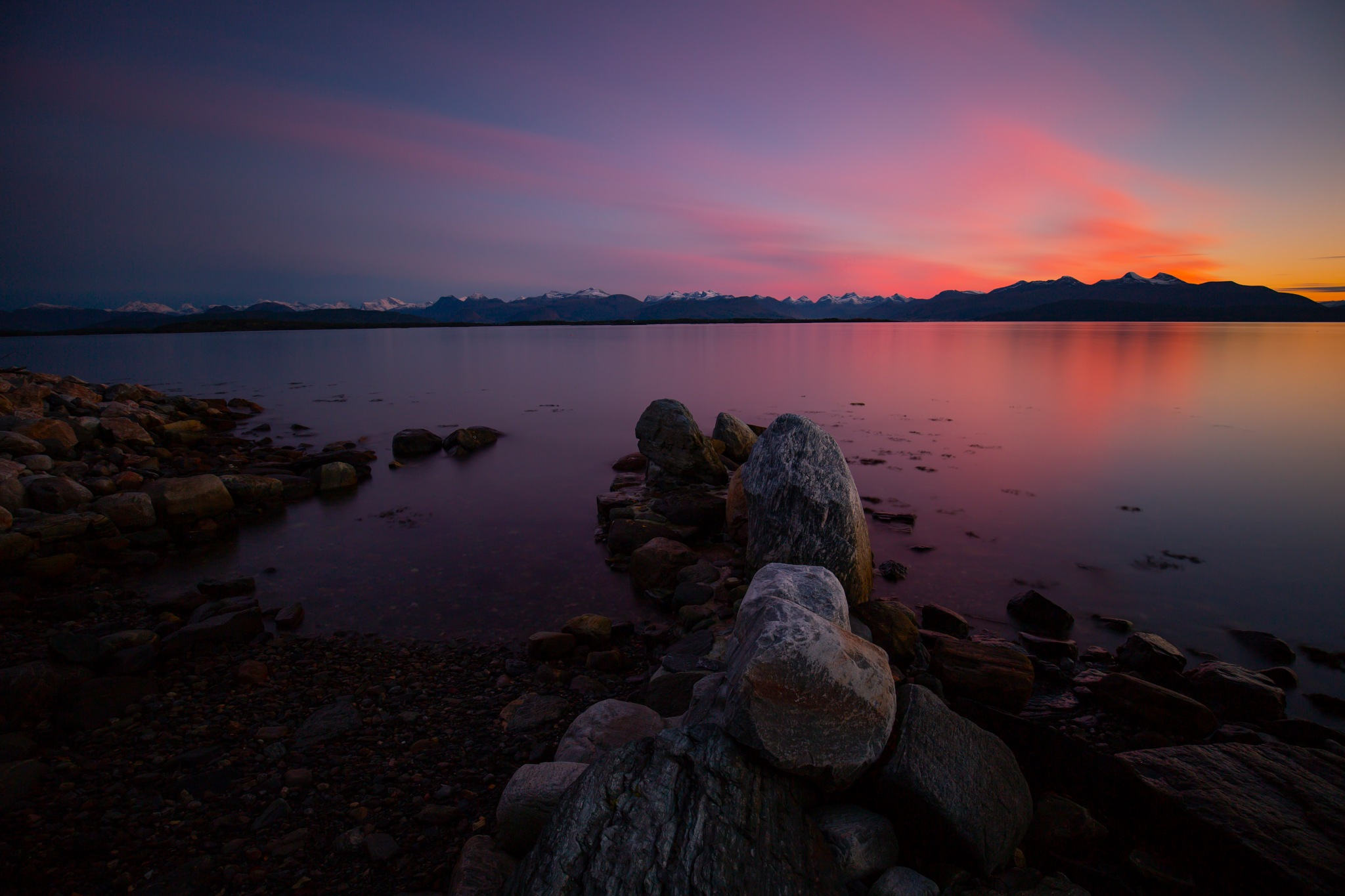 After sunset in Norway by Line Glomseth