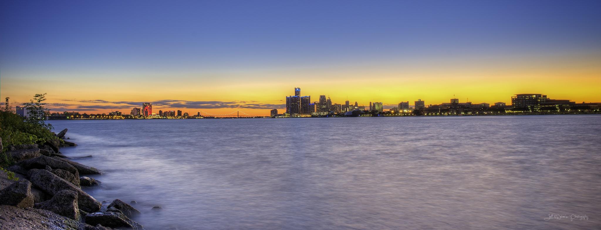 Detroit Sunset by JeffWeber