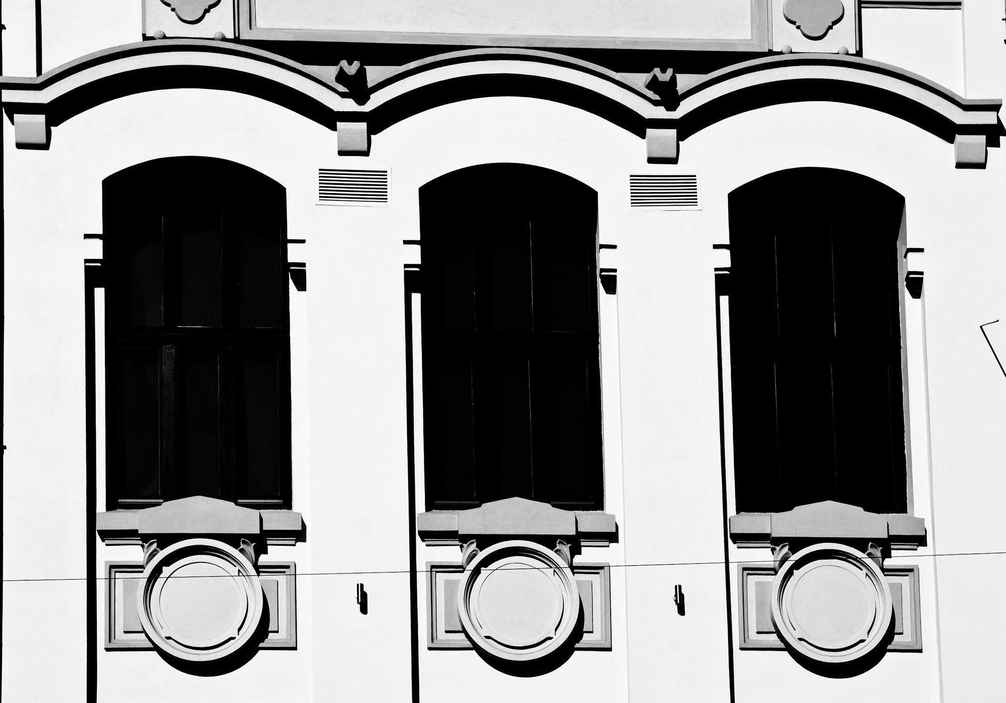 Black windows by Dan Cristian