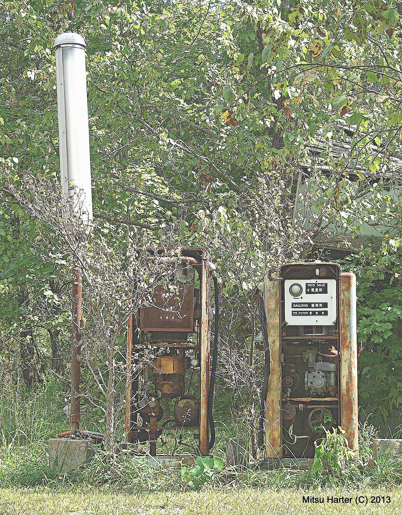 gas pumps by MH
