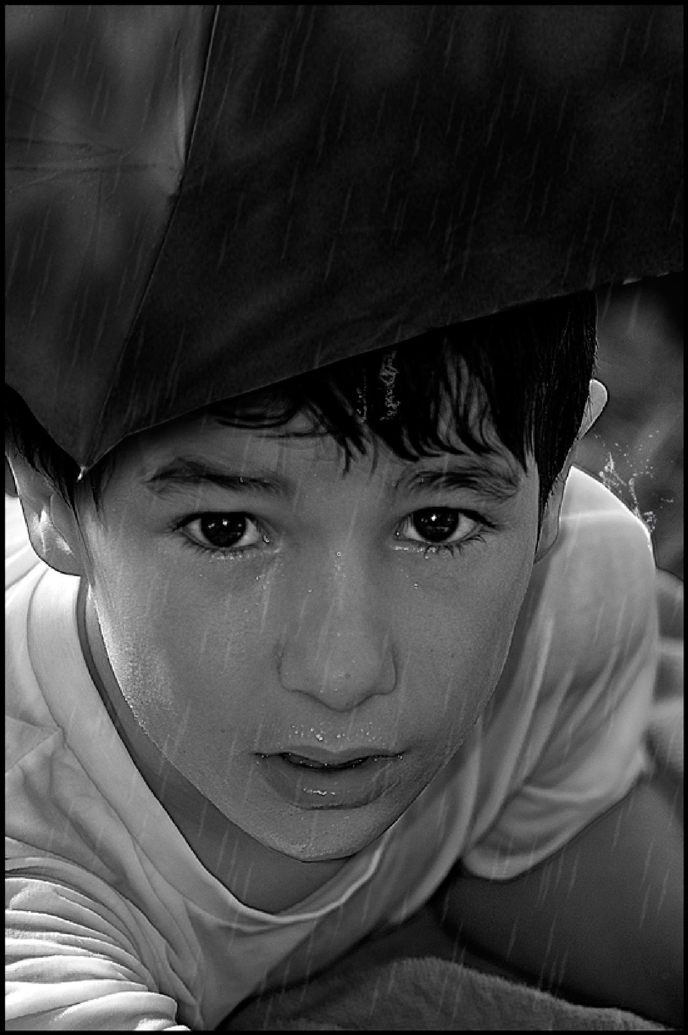 Boy in Rain by Aperture5point6